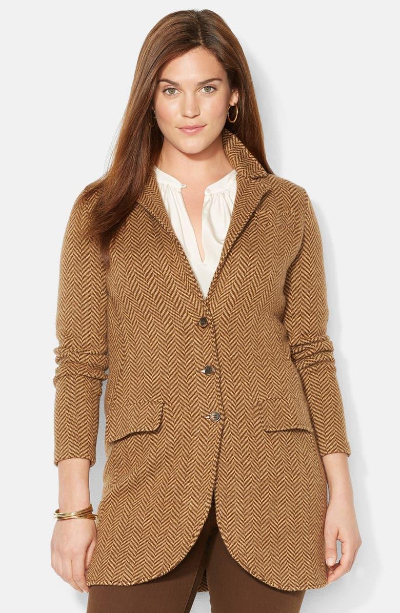 01c2d4e2942dd Lauren Ralph Lauren Wool Blend Herringbone Coat (Plus Size)