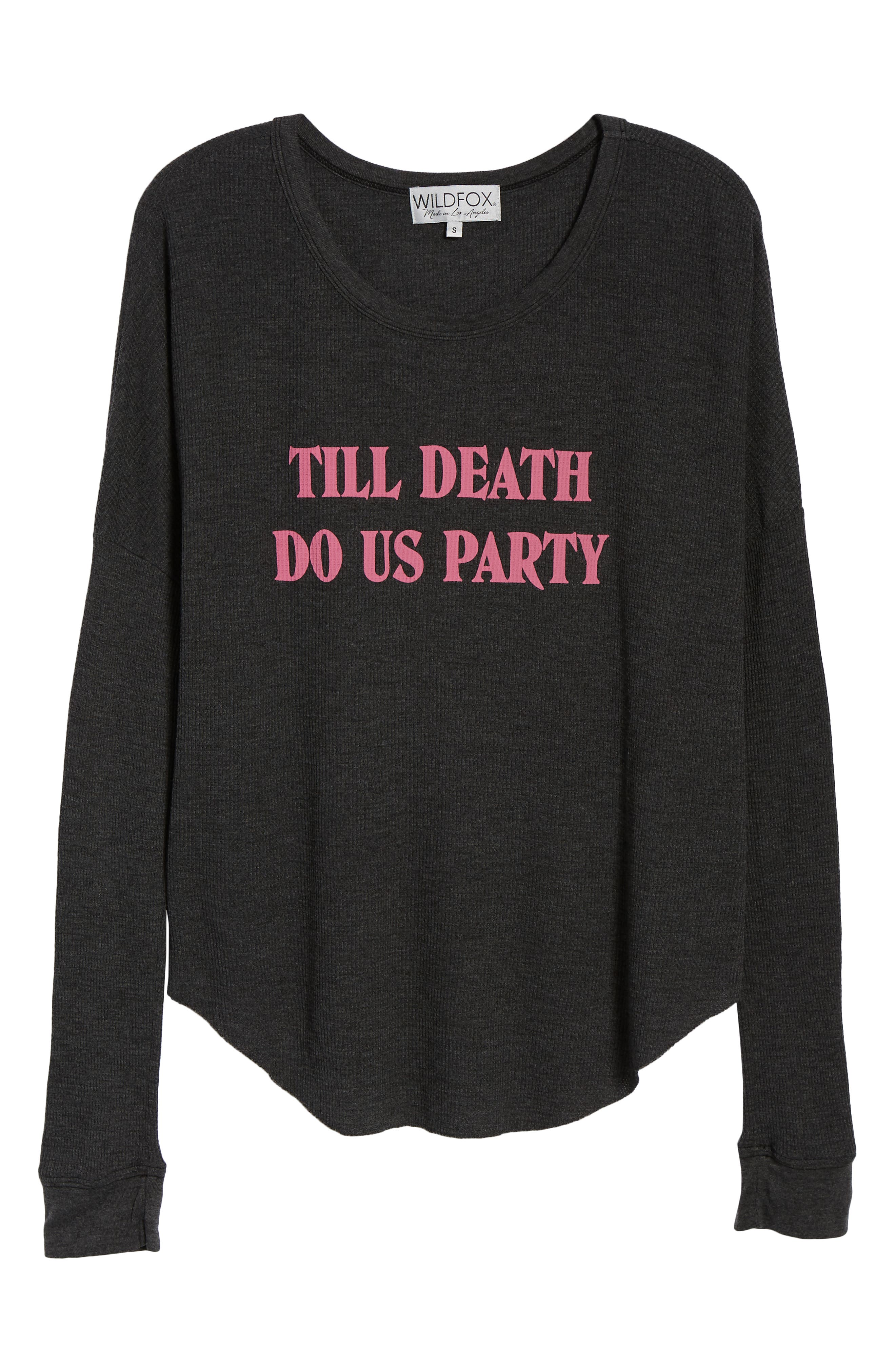Till Death Do Us Party Thermal Tee,                             Alternate thumbnail 6, color,                             CLEAN BLACK