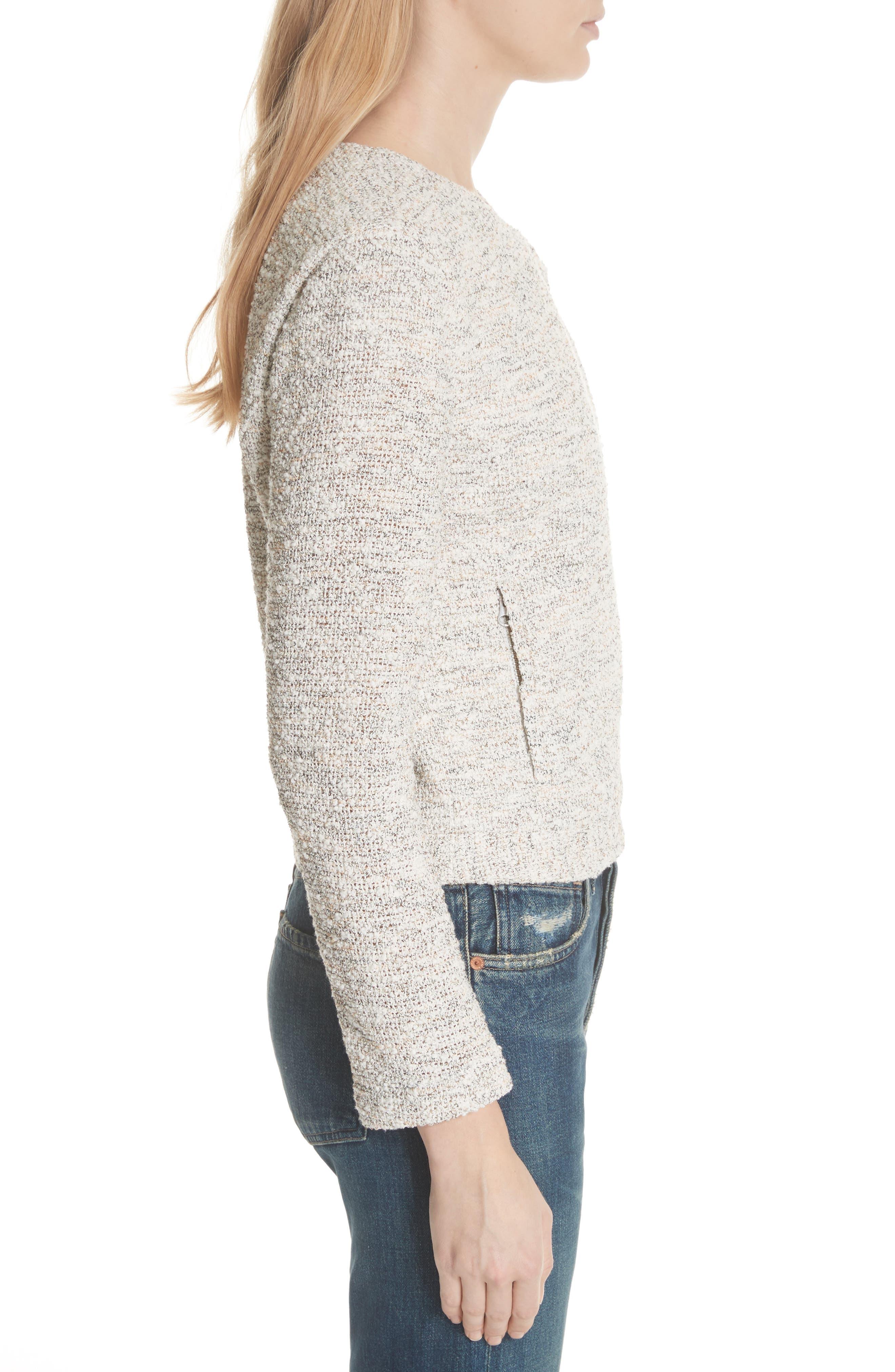'Balina' Tweed Jacket,                             Alternate thumbnail 3, color,                             114