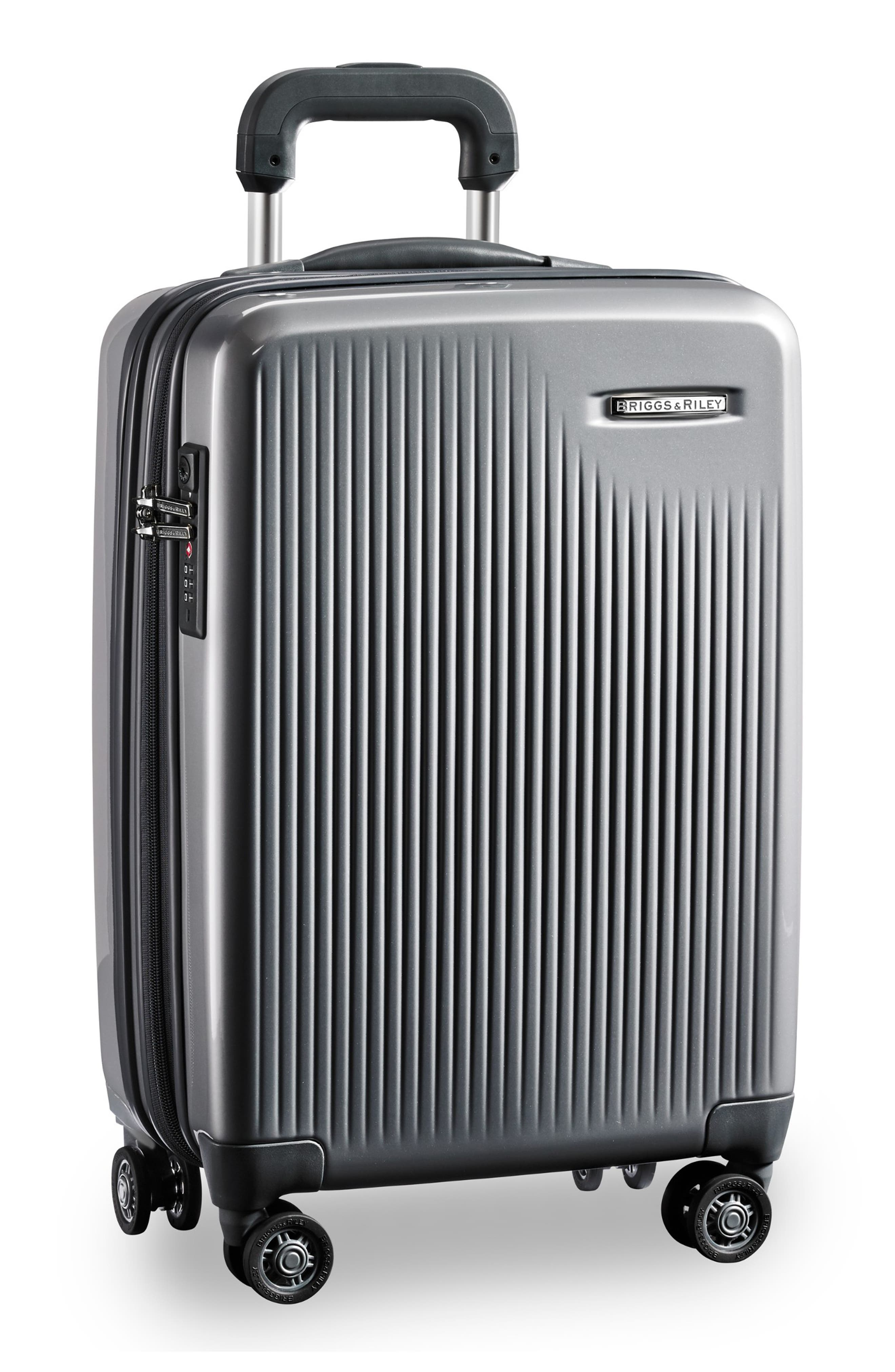 Sympatico Special Edition Expandable 21-Inch Spinner International Carry-On,                             Alternate thumbnail 6, color,                             SILVER