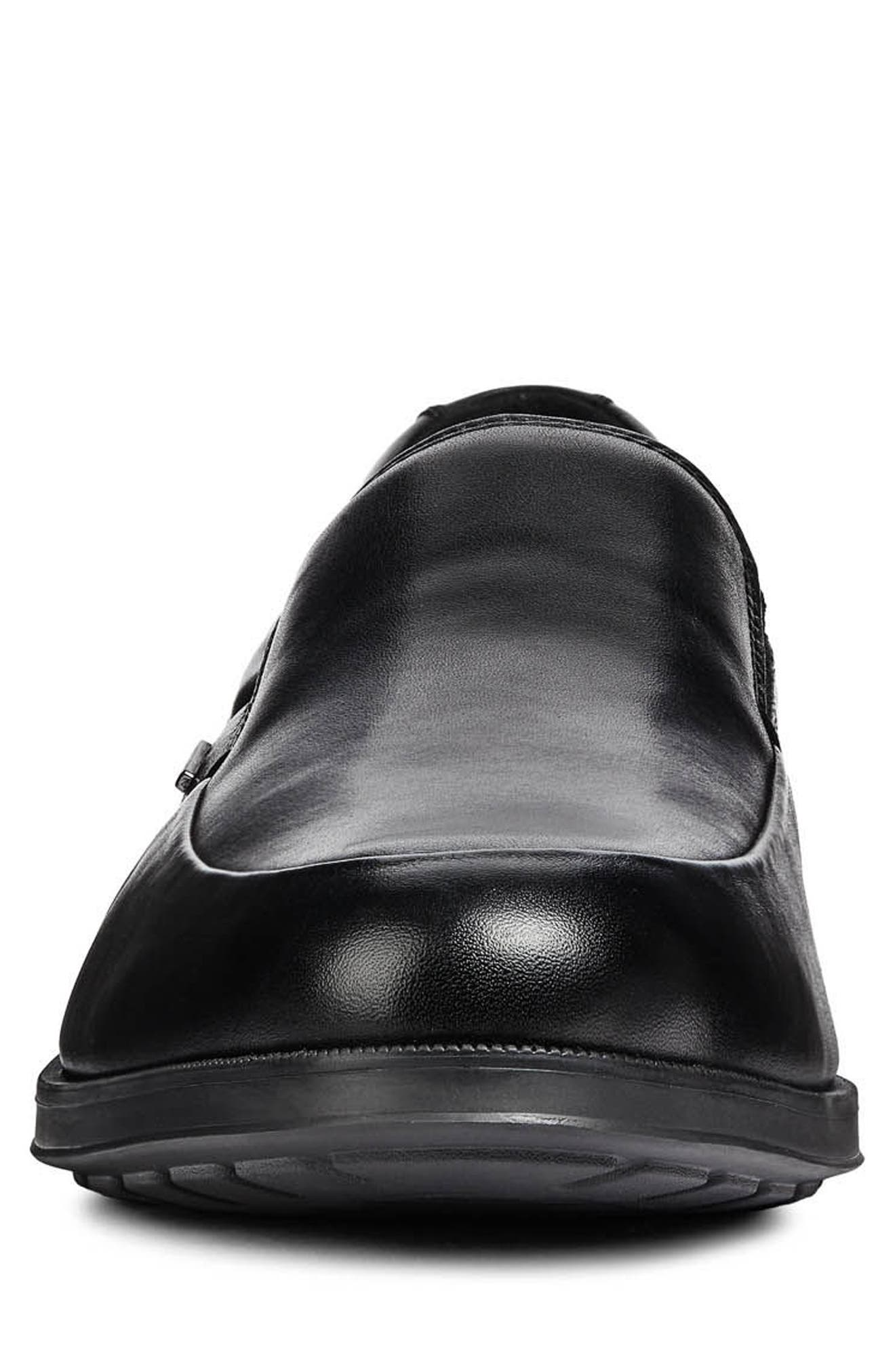 GEOX,                             Hilstone ABX 2 Loafer,                             Alternate thumbnail 4, color,                             BLACK LEATHER