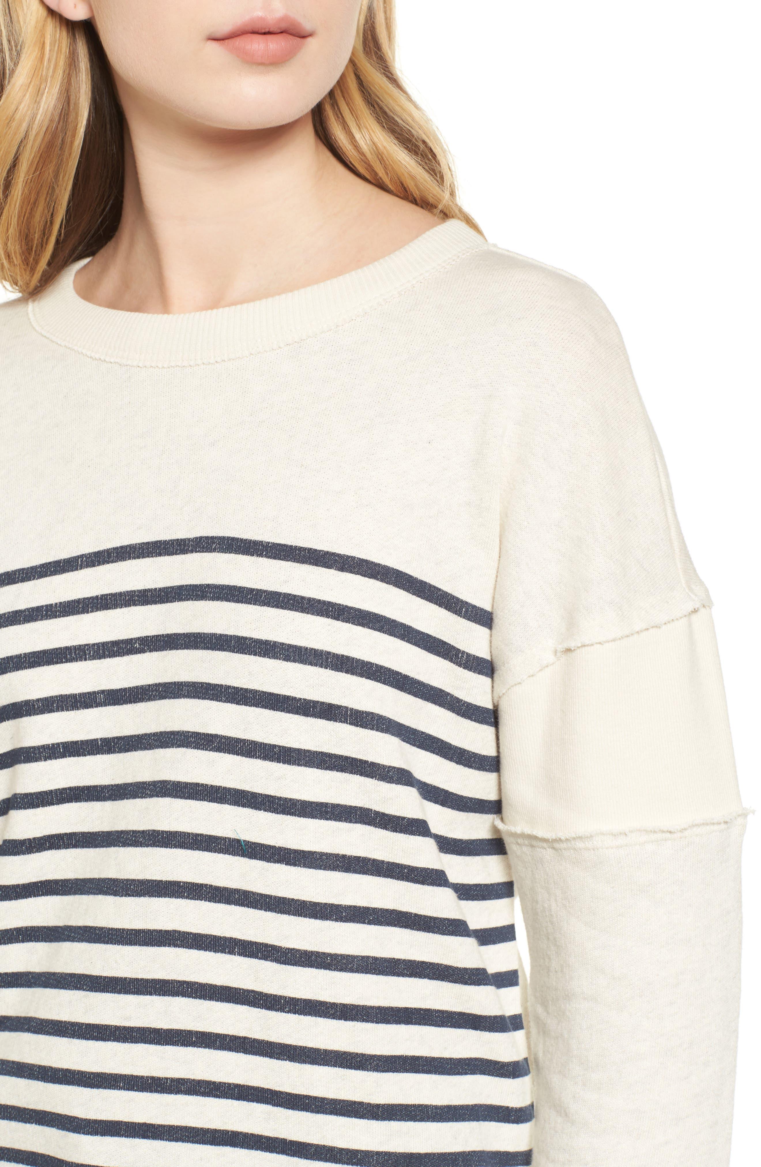 Seabrook Stripe Sweatshirt,                             Alternate thumbnail 4, color,                             909