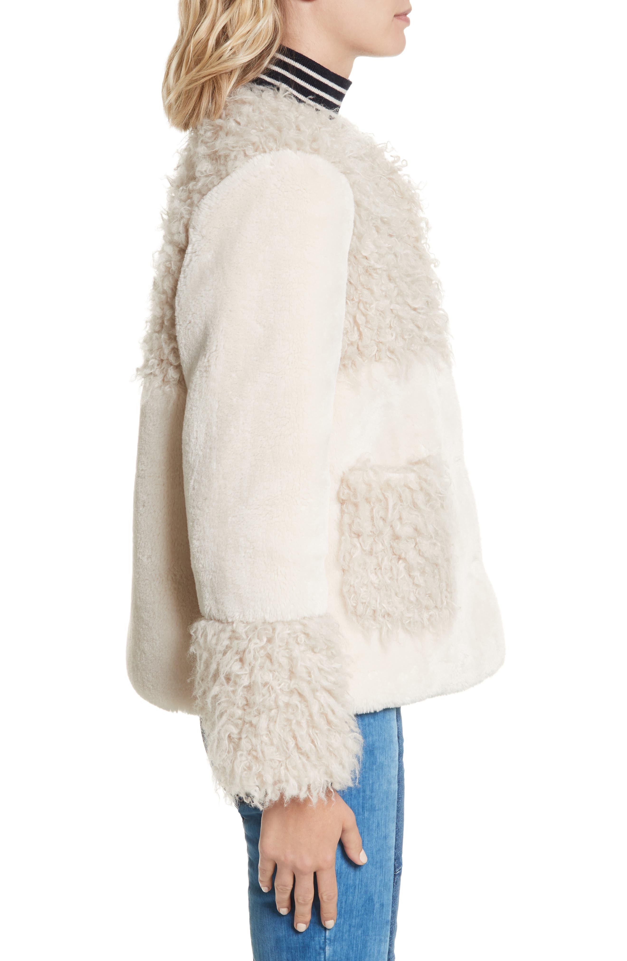 Mixed Faux Fur Coat,                             Alternate thumbnail 3, color,                             905