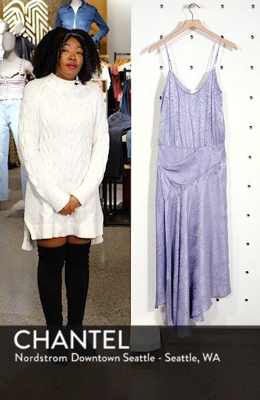 Willa Asymmetrical Silk Jacquard Dress, sales video thumbnail