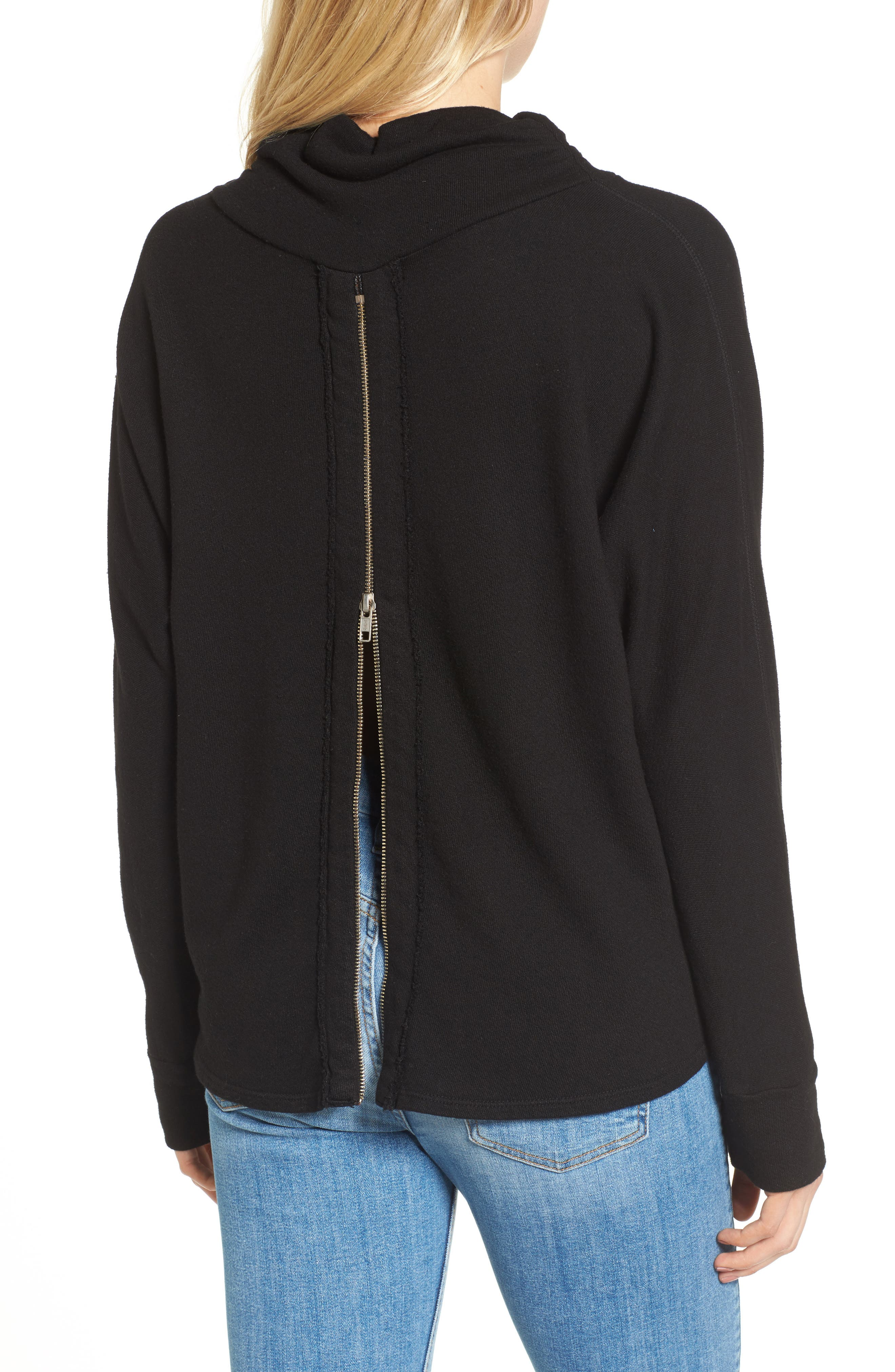 Helix Turtleneck Sweatshirt,                             Alternate thumbnail 2, color,                             001