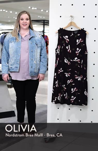 Suzan Scattered Poppies Shift Dress, sales video thumbnail