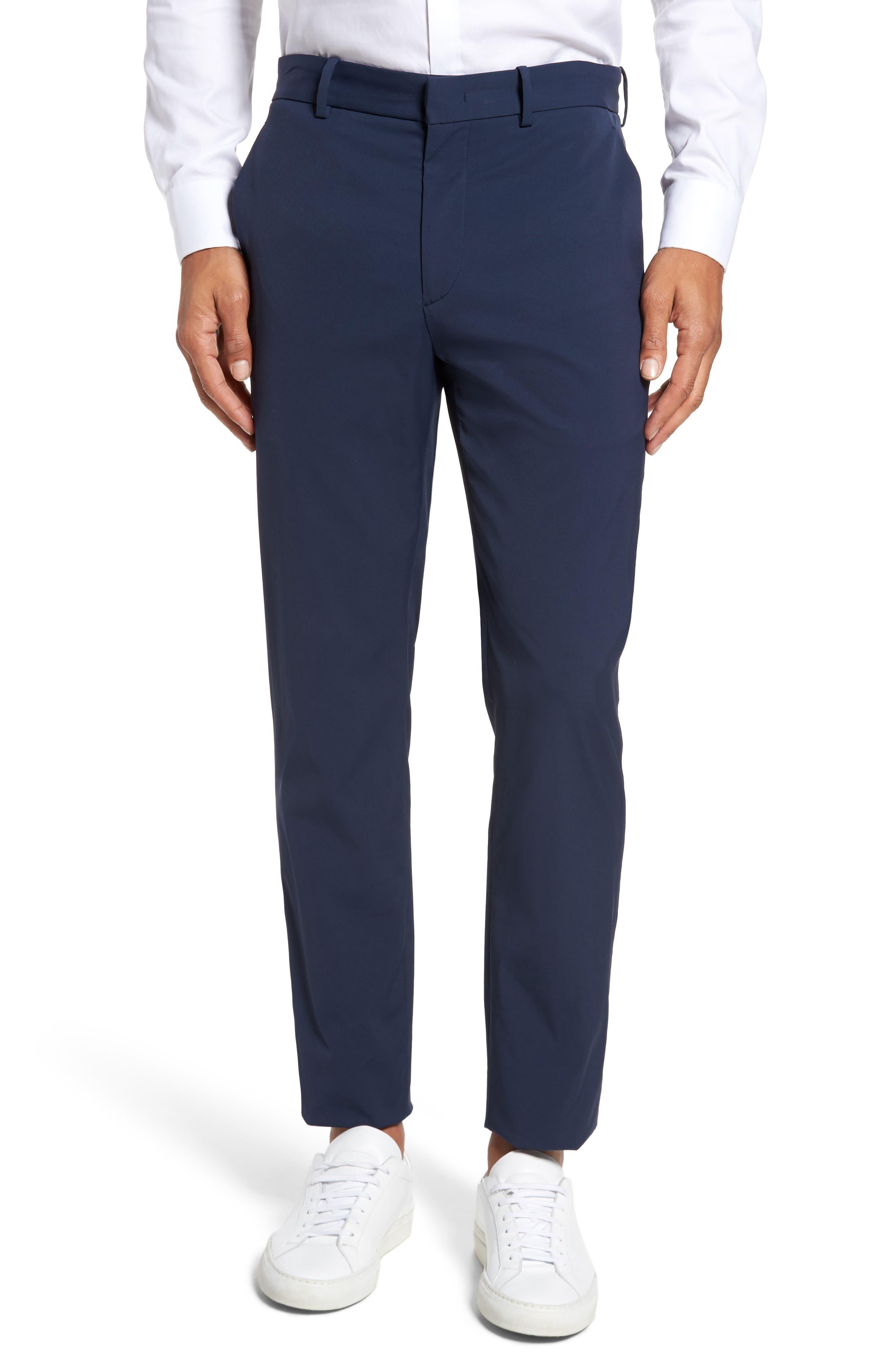 Theory Peterson Neoteric Tech Chino Pants, Blue