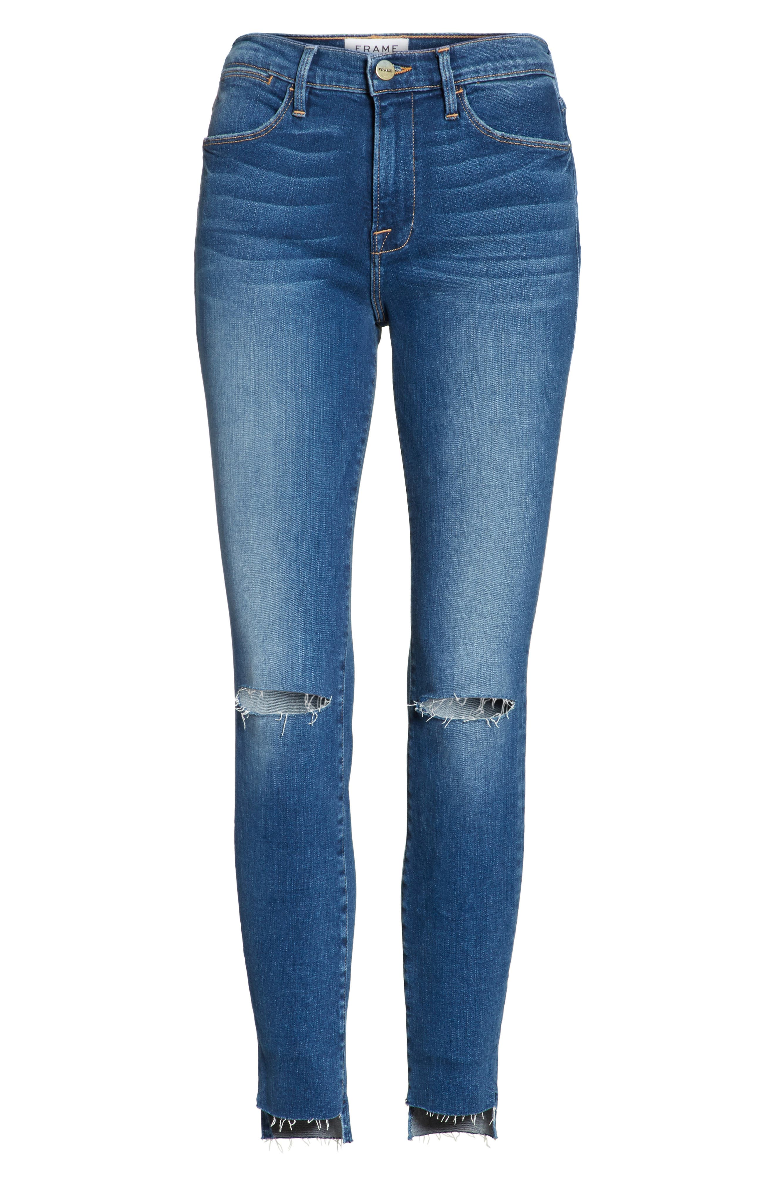 Le High High Waist Ankle Skinny Jeans,                             Alternate thumbnail 6, color,                             420