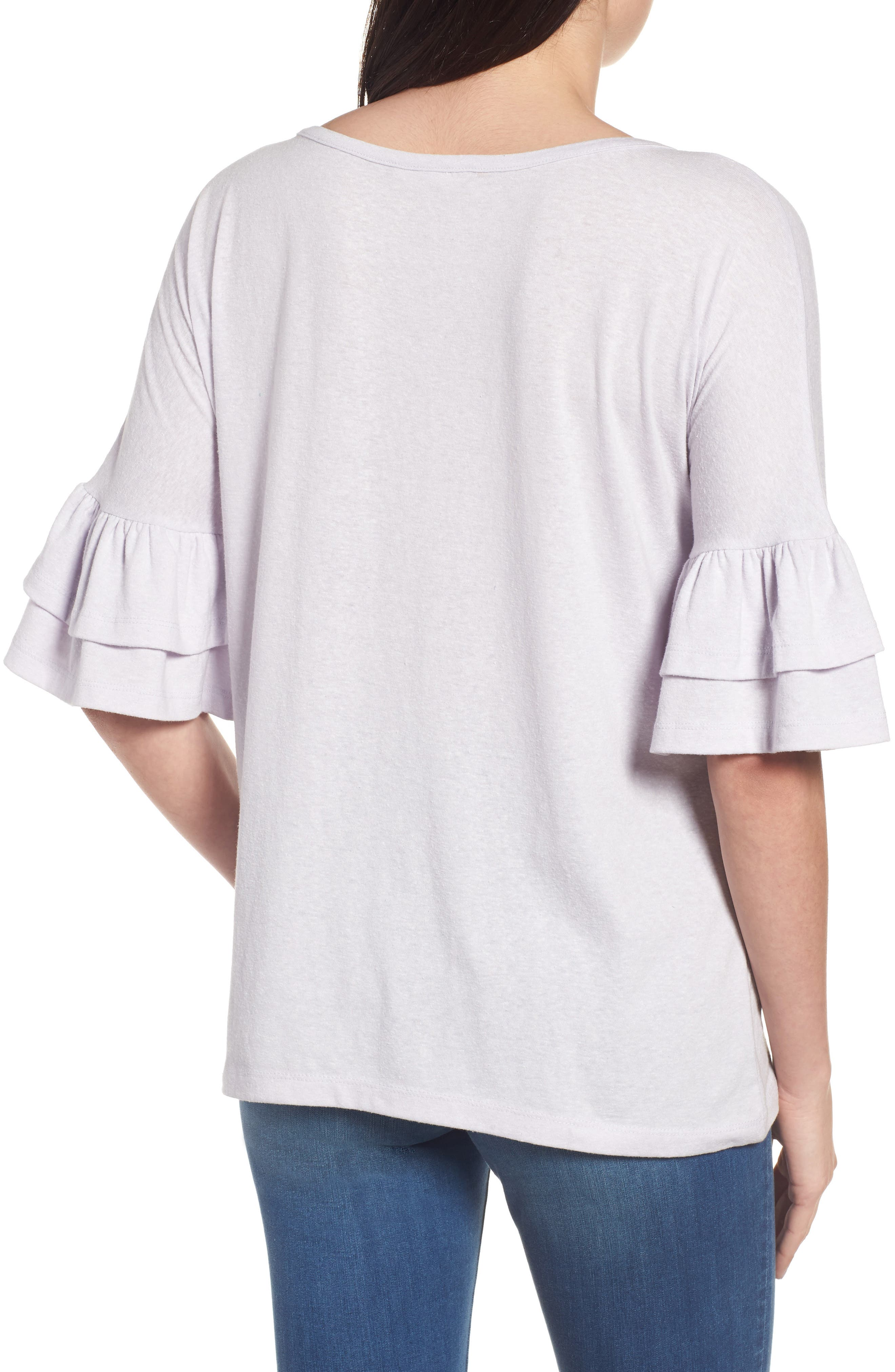 Tiered Bell Sleeve Tee,                             Alternate thumbnail 15, color,