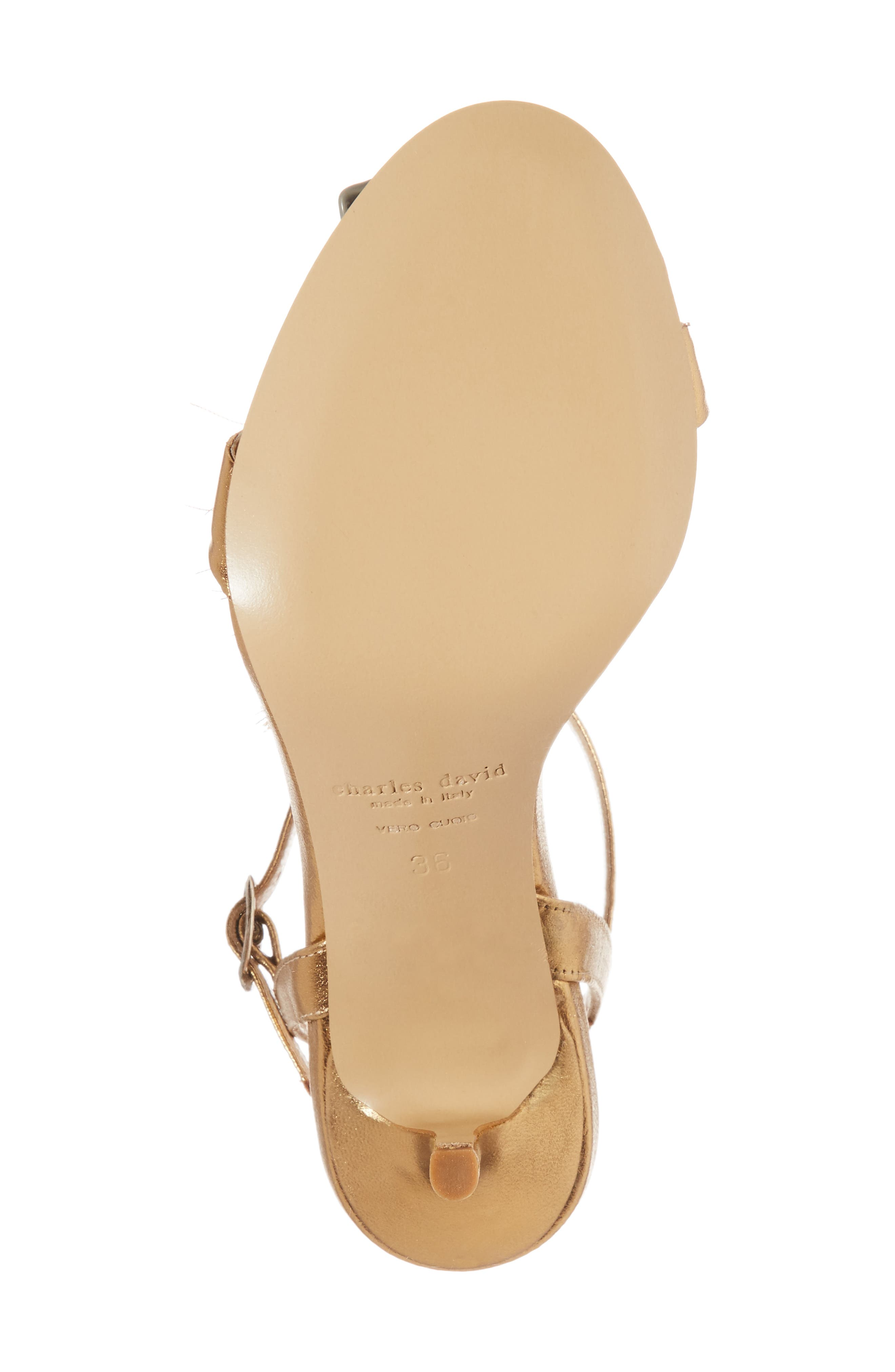 Sassy Tassel Sandal,                             Alternate thumbnail 6, color,                             GOLD LEATHER