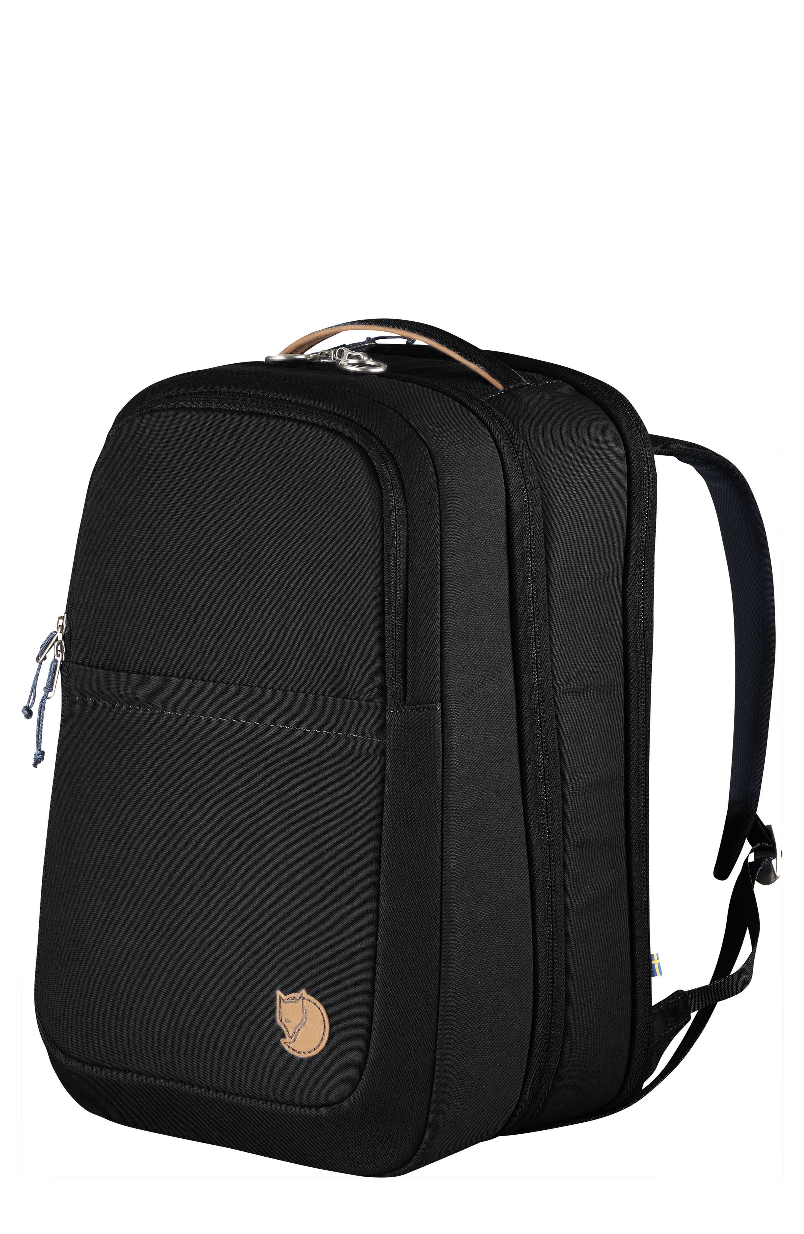 Travel Backpack,                         Main,                         color, BLACK