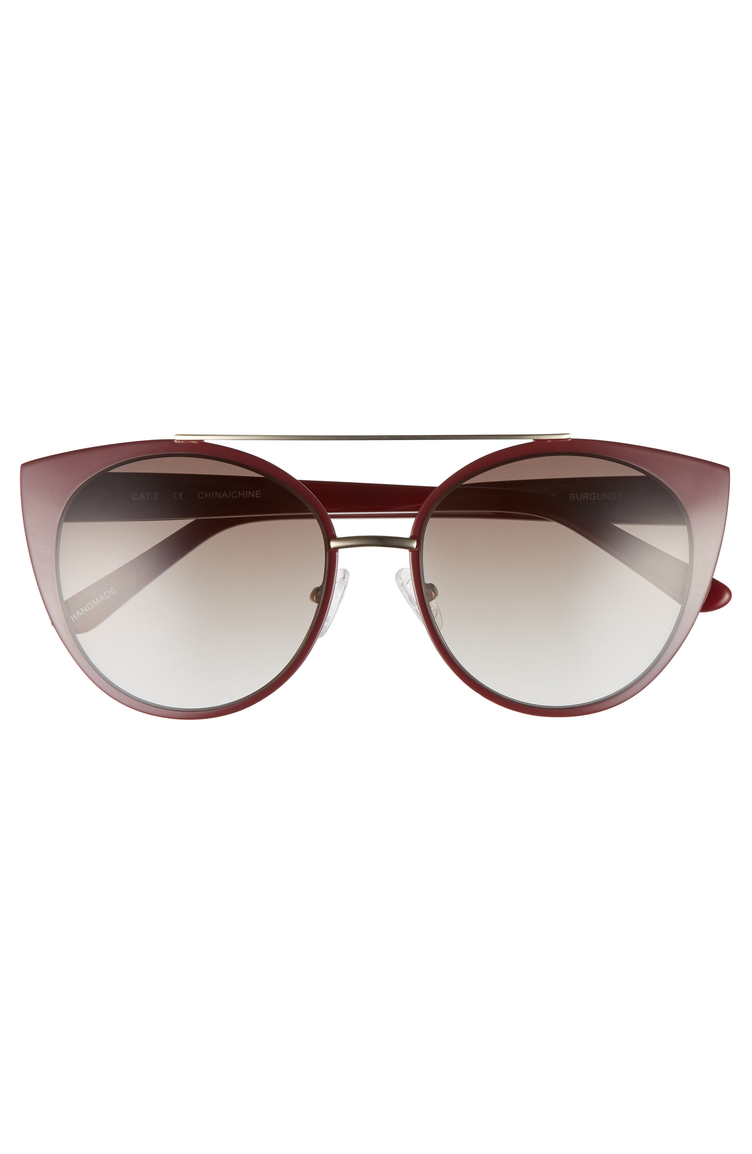 Amelia 53mm Aviator Sunglasses,                             Alternate thumbnail 3, color,                             930