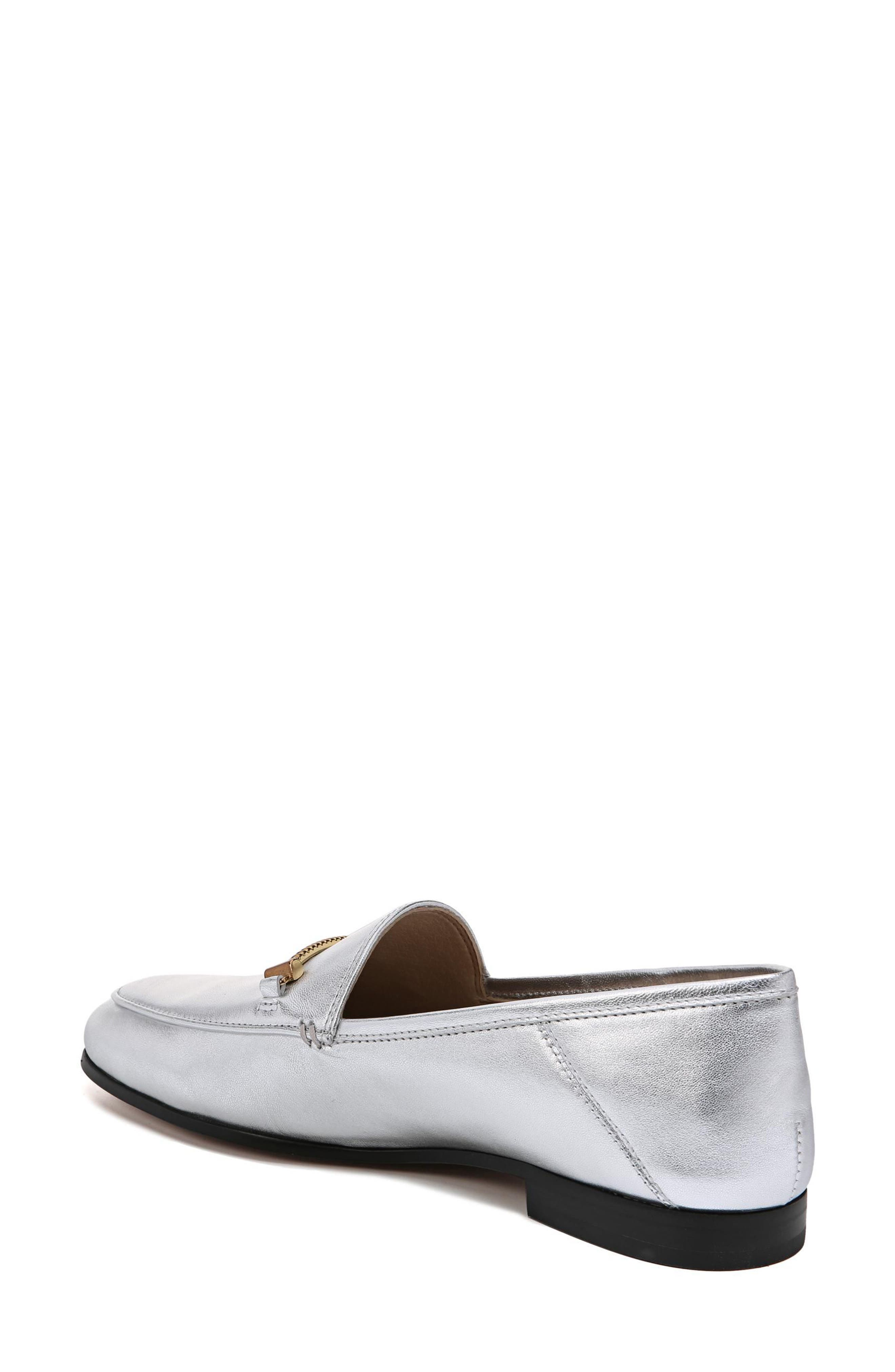 Lior Loafer,                             Alternate thumbnail 2, color,                             SOFT SILVER METALLIC LEATHER