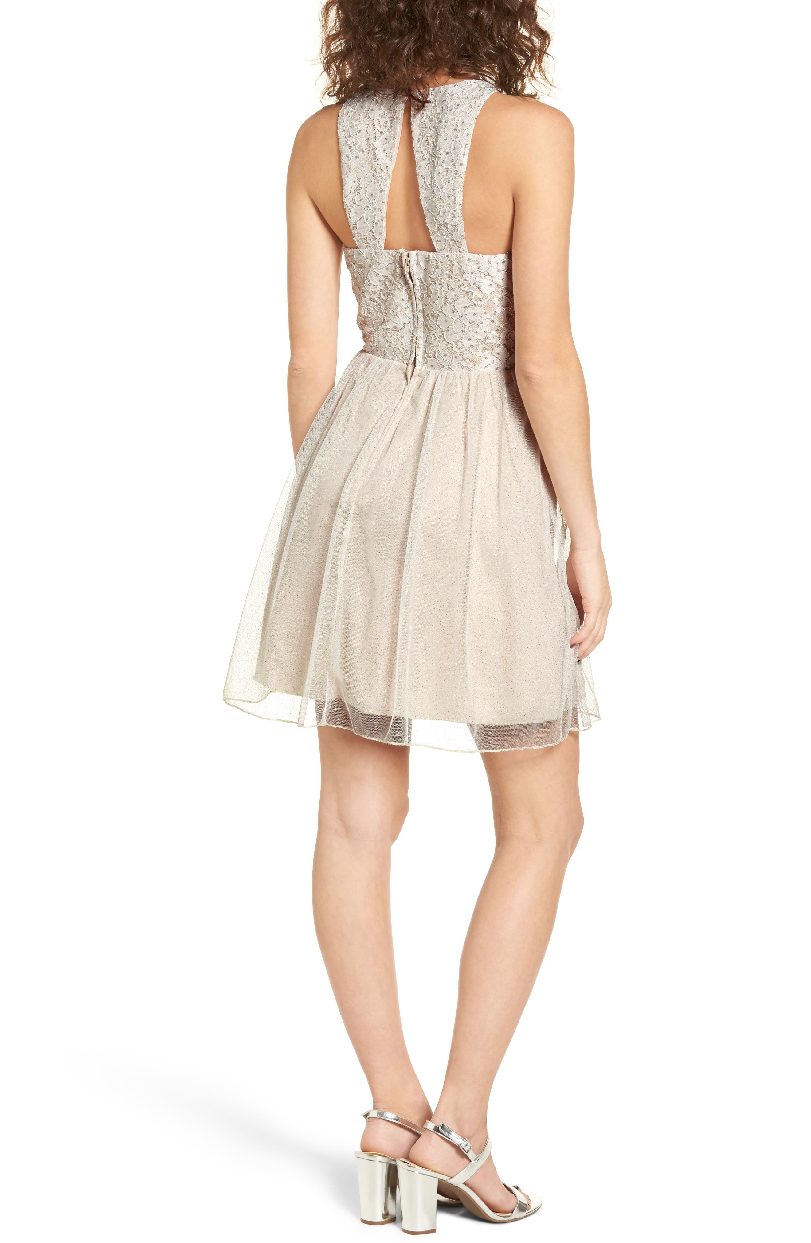 Glitter Tulle Dress,                             Alternate thumbnail 2, color,                             681