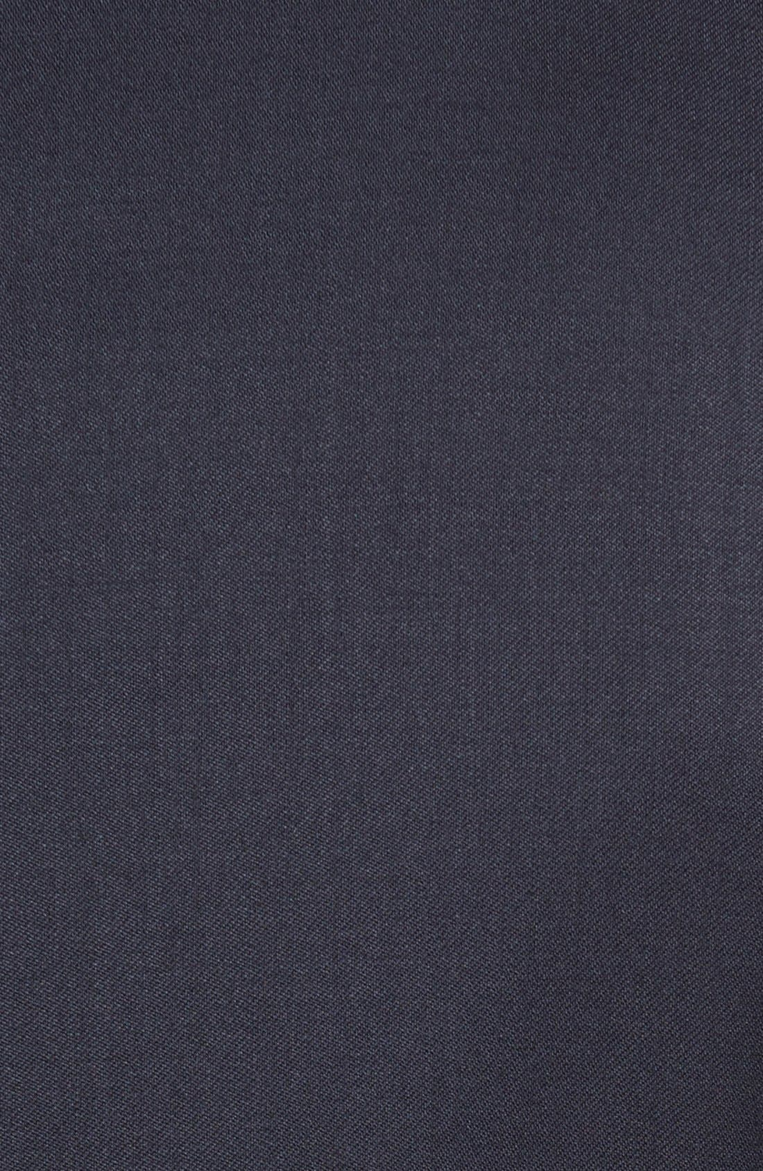 Classic Fit Solid Wool Suit,                             Alternate thumbnail 8, color,                             NAVY