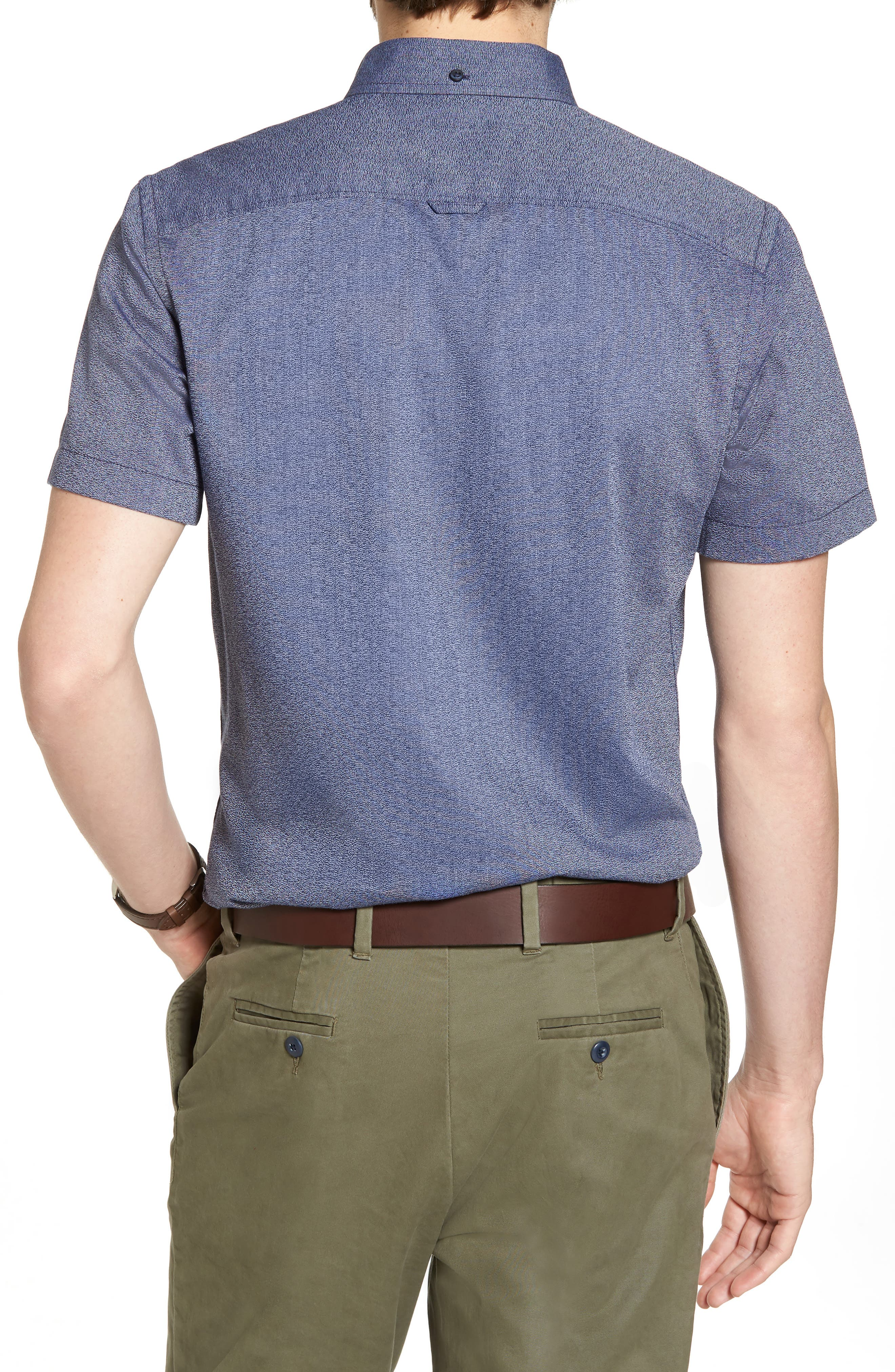 Ivy Jaspe Trim Fit Sport Shirt,                             Alternate thumbnail 2, color,                             410