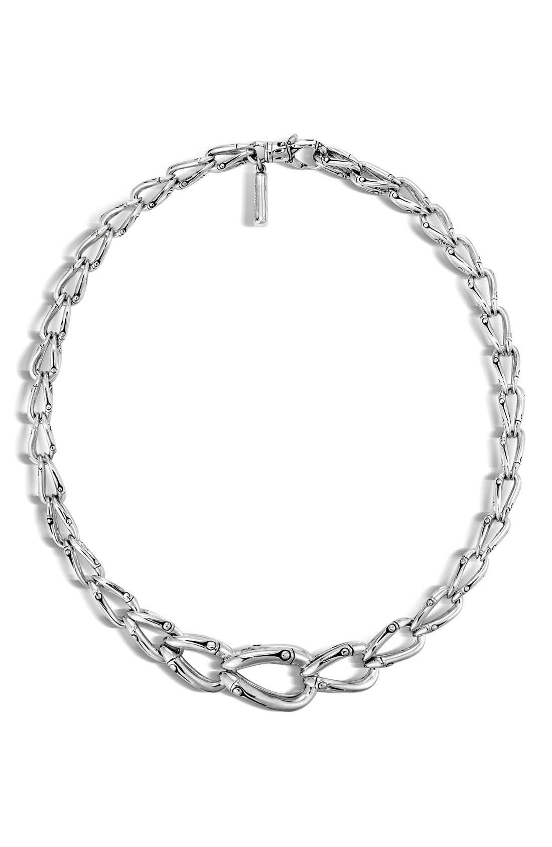 'Bamboo' Collar Necklace,                             Main thumbnail 1, color,                             SILVER