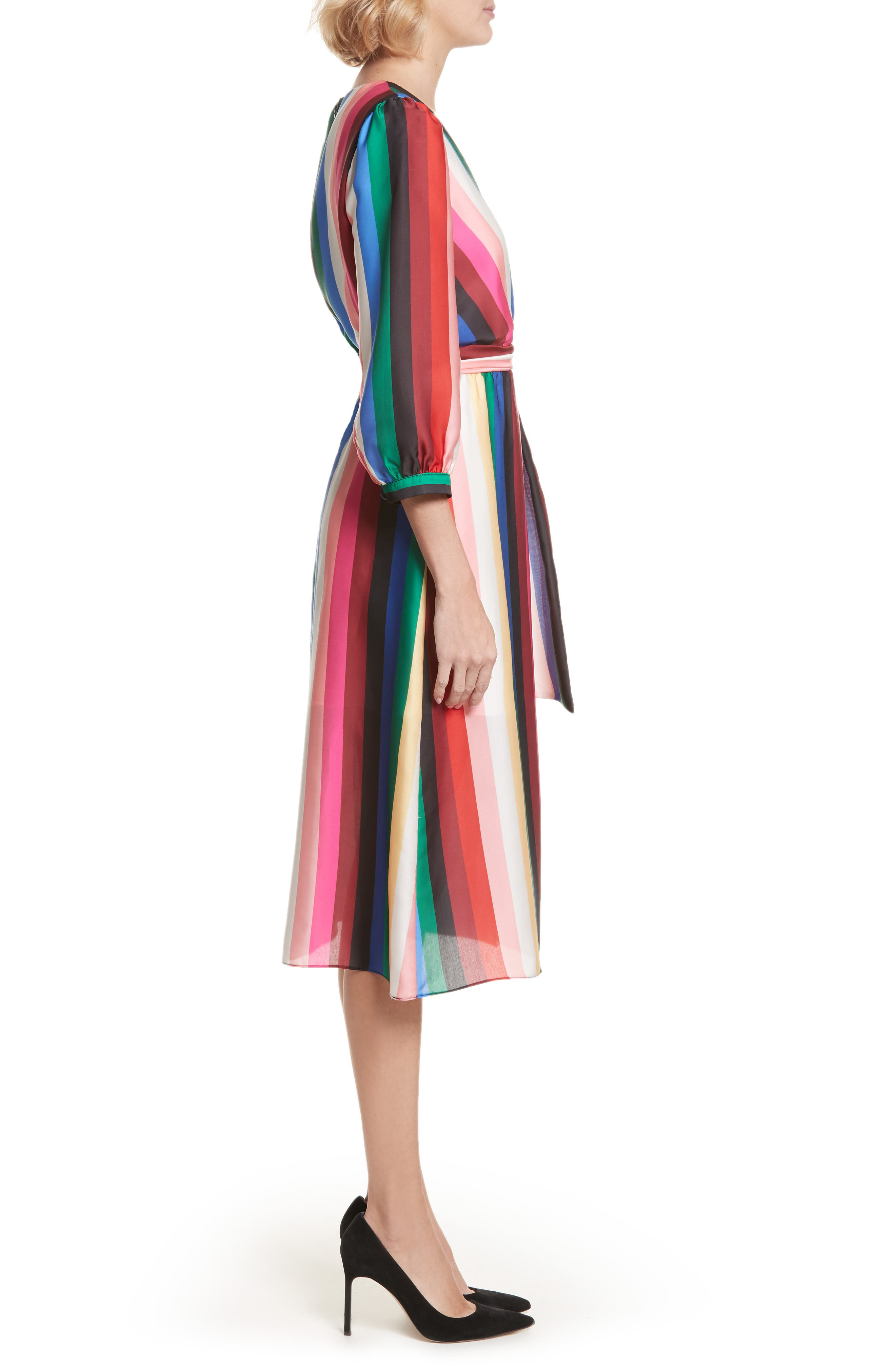 Dyanna Midi Dress,                             Alternate thumbnail 3, color,                             607