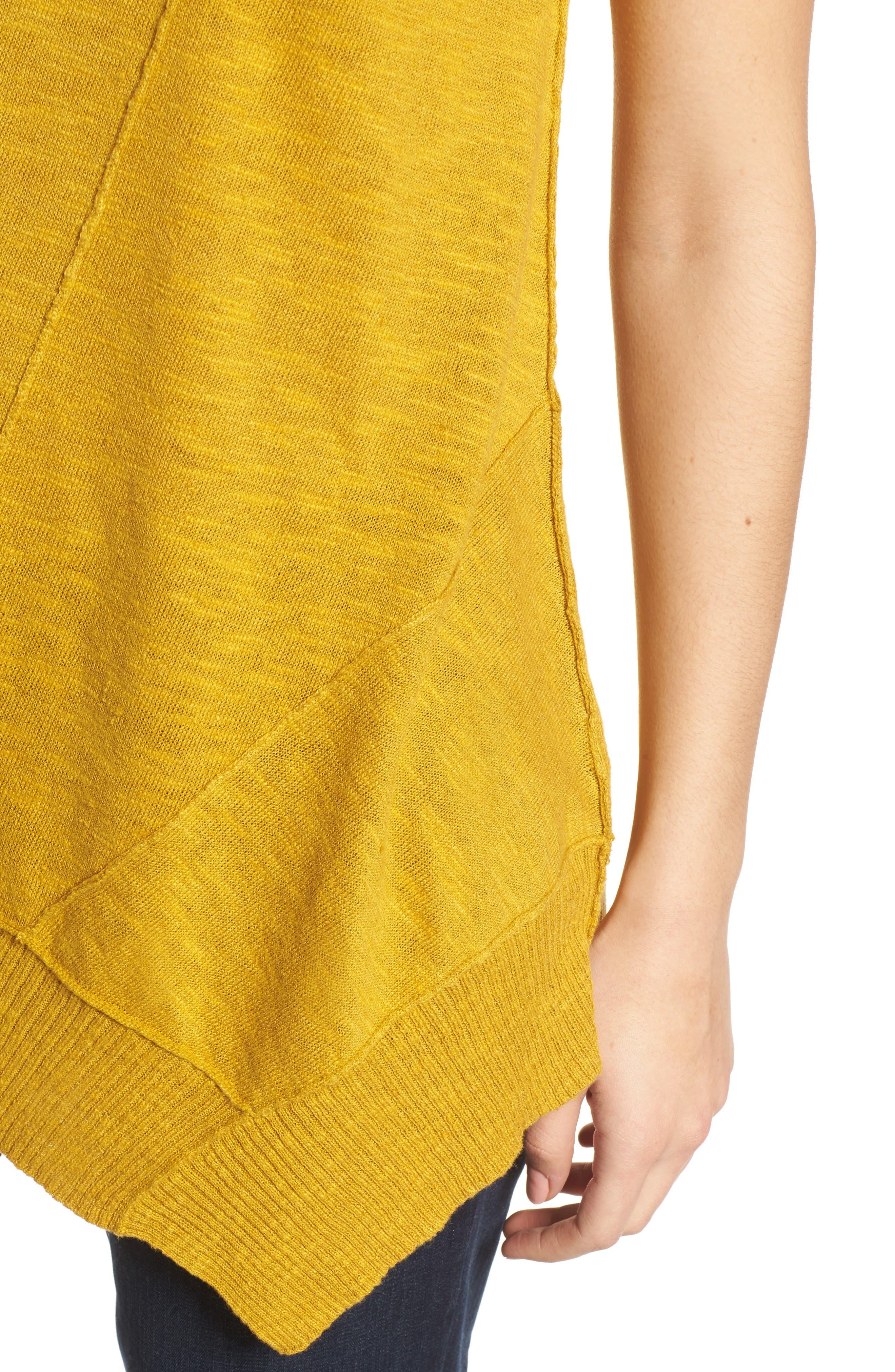 Cap Sleeve Organic Linen & Cotton Scoop Neck Top,                             Alternate thumbnail 63, color,
