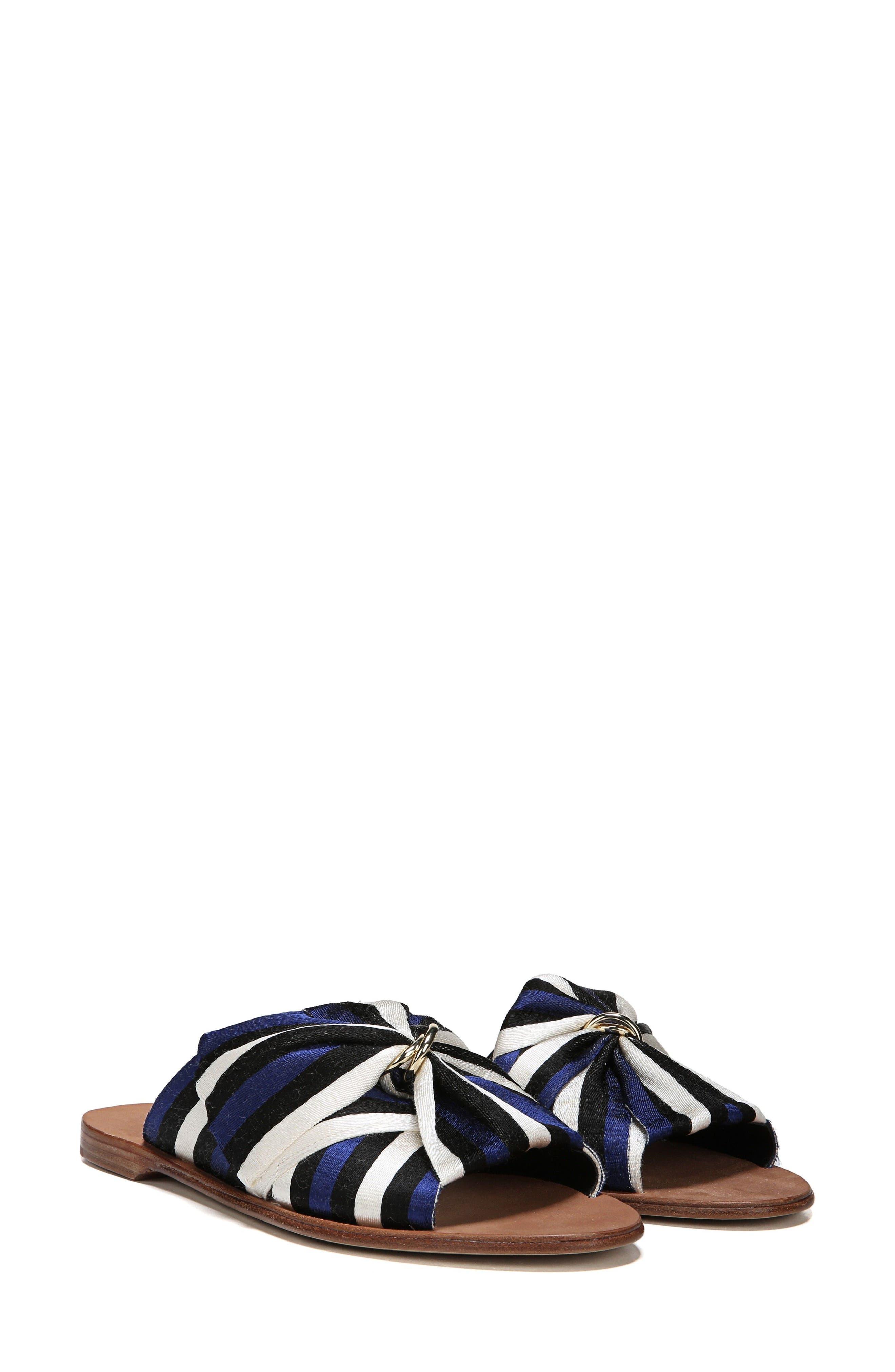Bella Asymmetrical Slide Sandal,                             Alternate thumbnail 7, color,                             400