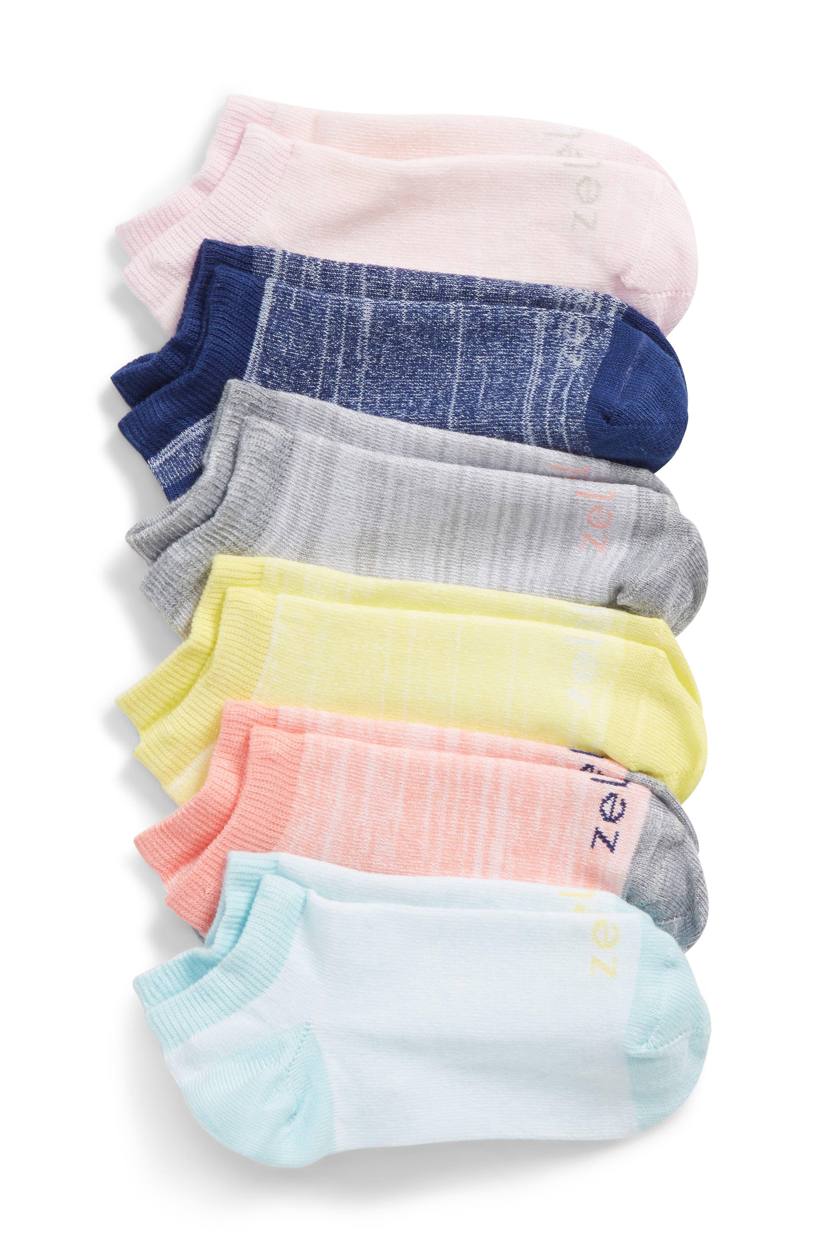 6-Pack Ankle Socks,                             Main thumbnail 3, color,
