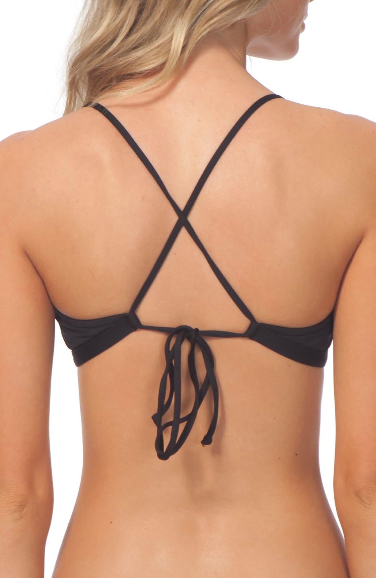 Classic Surf Cross-Back Bikini Top,                             Alternate thumbnail 2, color,                             001
