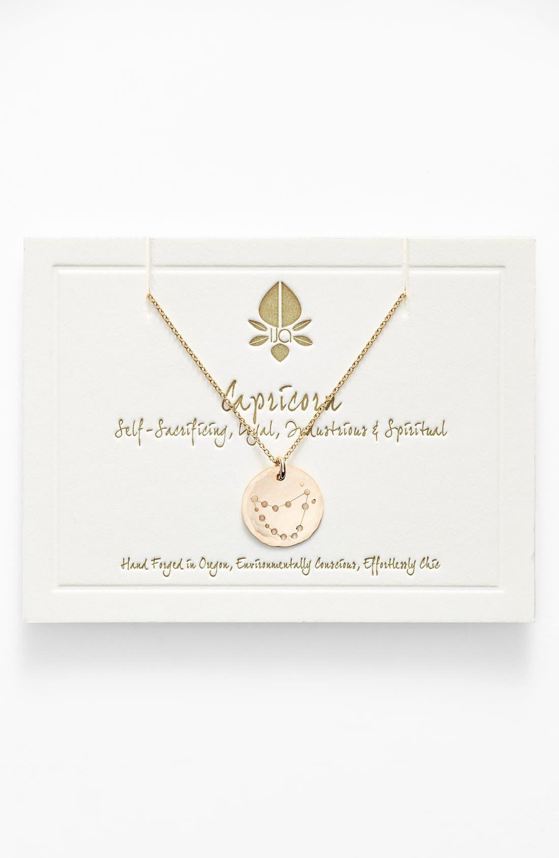 Ija 'Small Zodiac' 14k-Gold Fill Necklace,                             Main thumbnail 10, color,