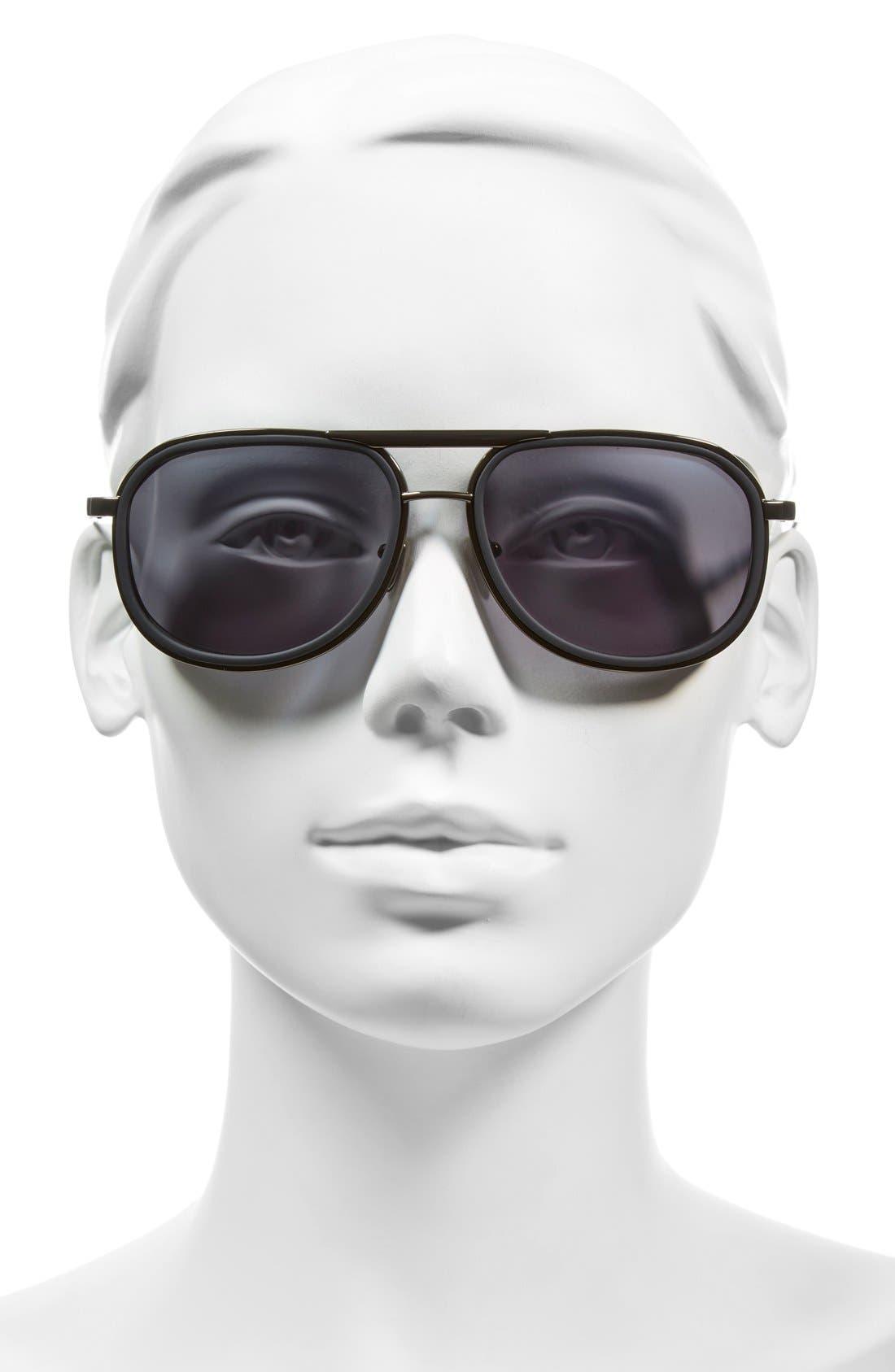 58mm Sunglasses,                             Alternate thumbnail 2, color,                             001