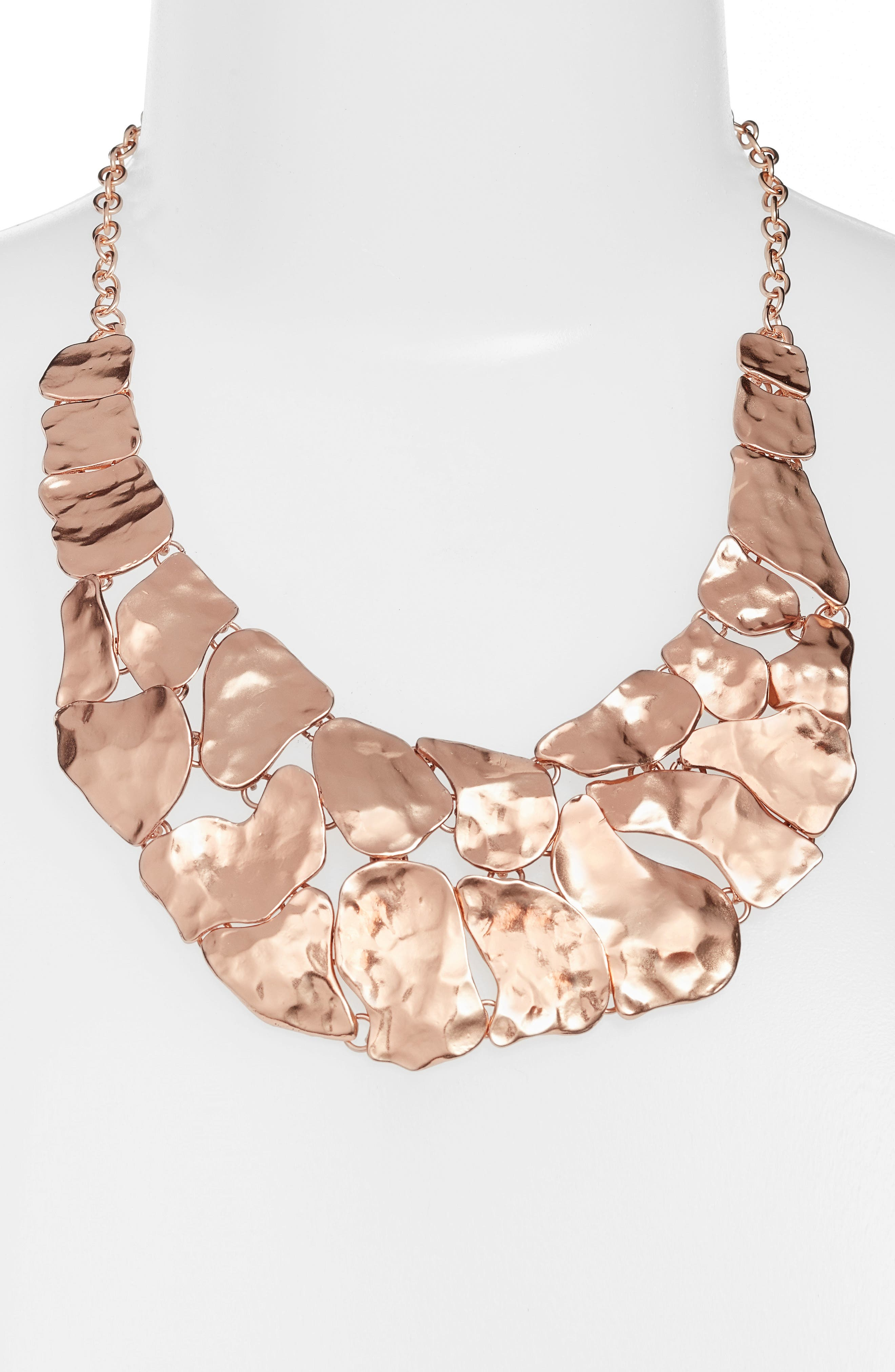 Alice Statement Necklace,                             Alternate thumbnail 2, color,                             ROSE GOLD