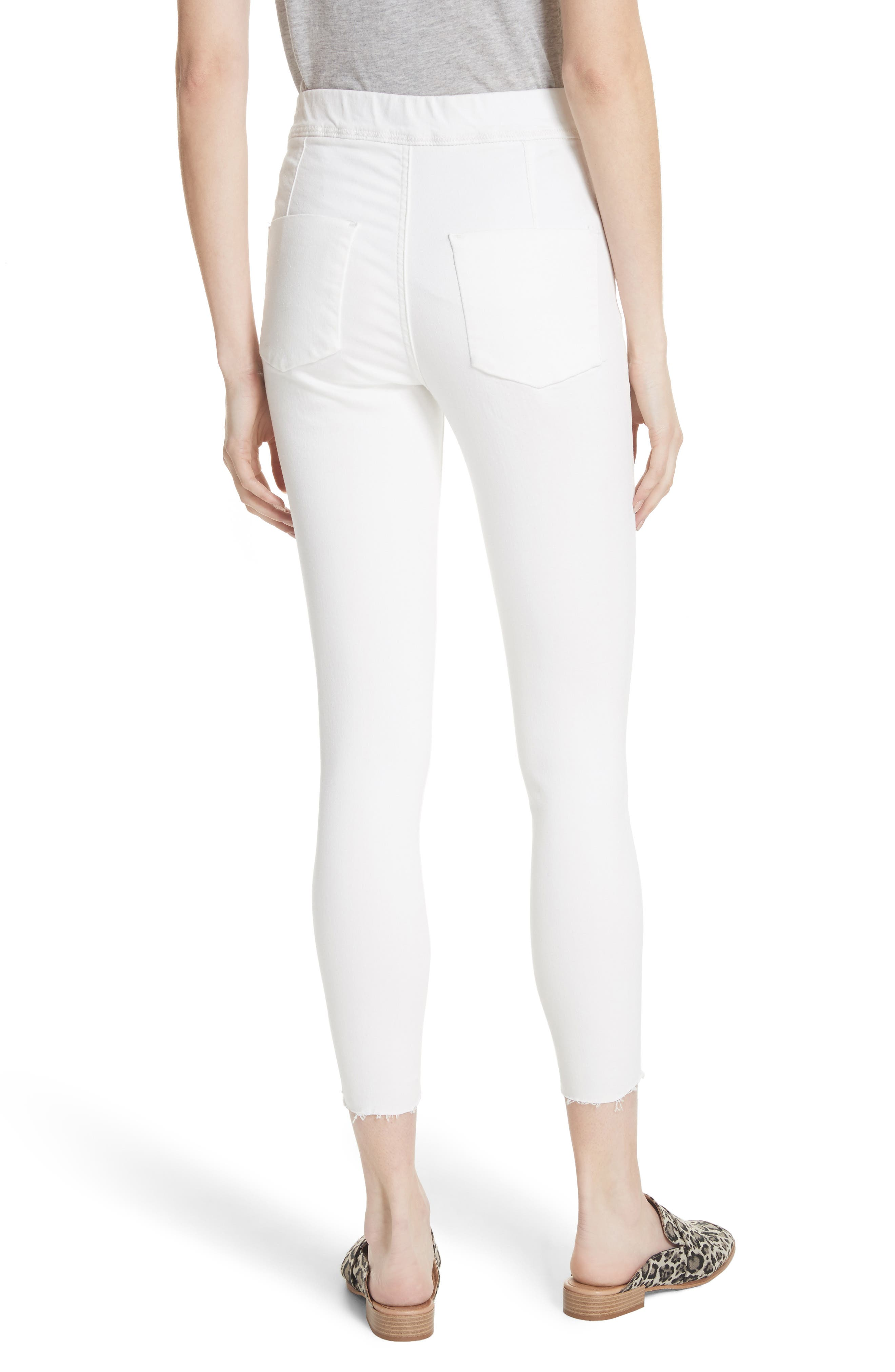 We the Free by Free People Easy Goes It Denim Leggings,                             Alternate thumbnail 2, color,                             WHITE