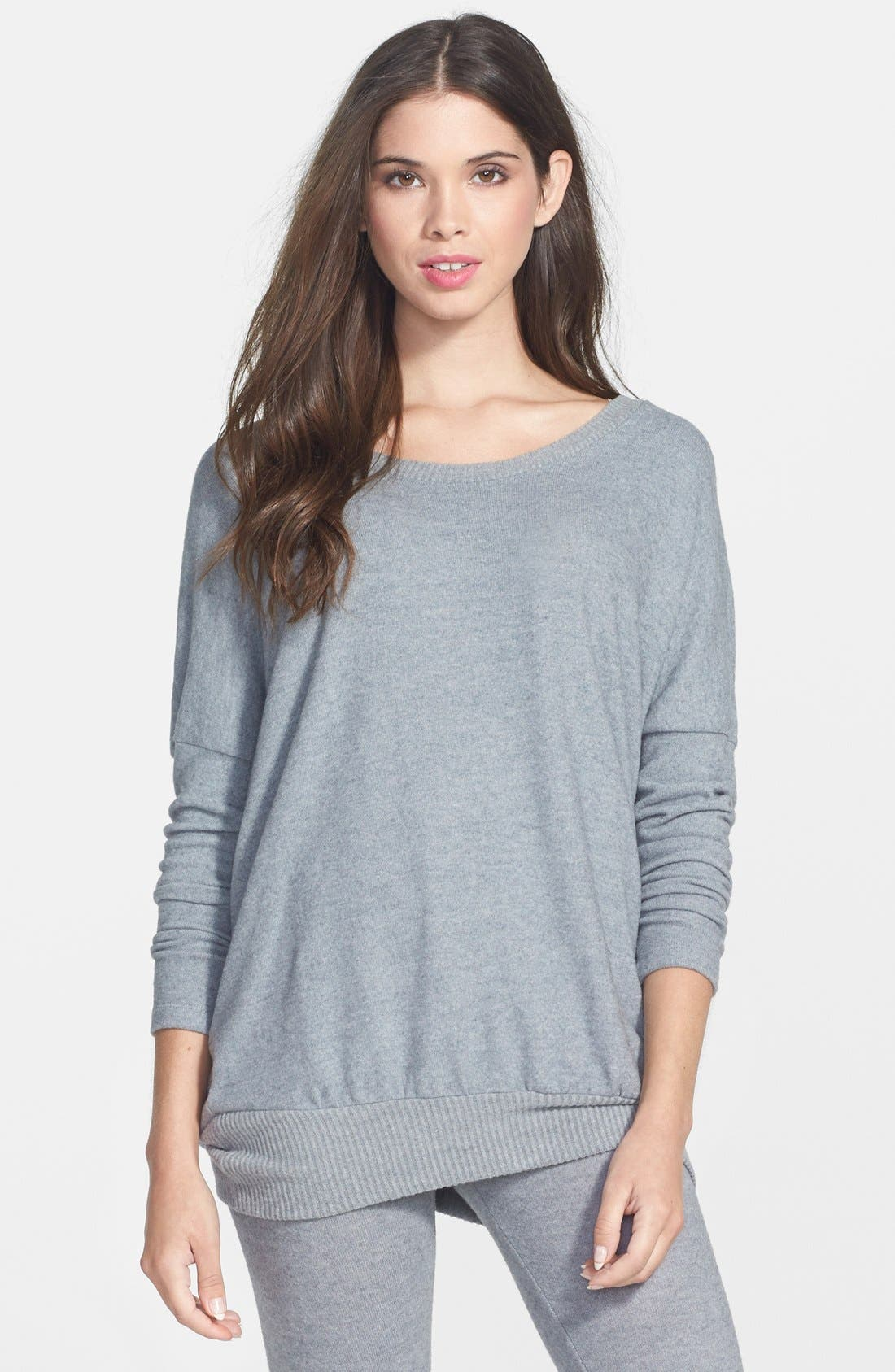 'Cozy Time' Slouchy Long Sleeve Tee,                             Main thumbnail 6, color,