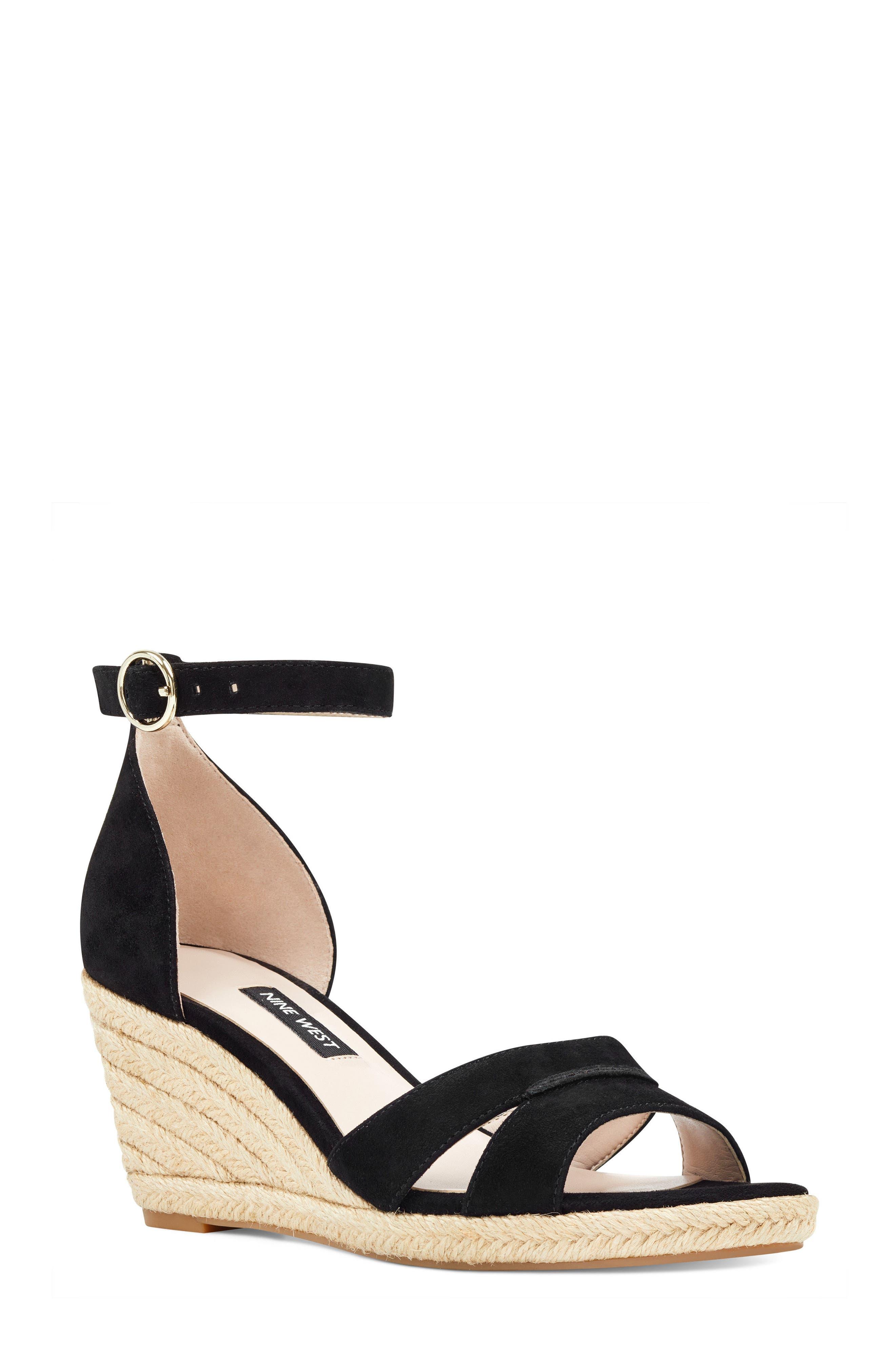 Jeranna Espadrille Wedge Sandal,                         Main,                         color, 001