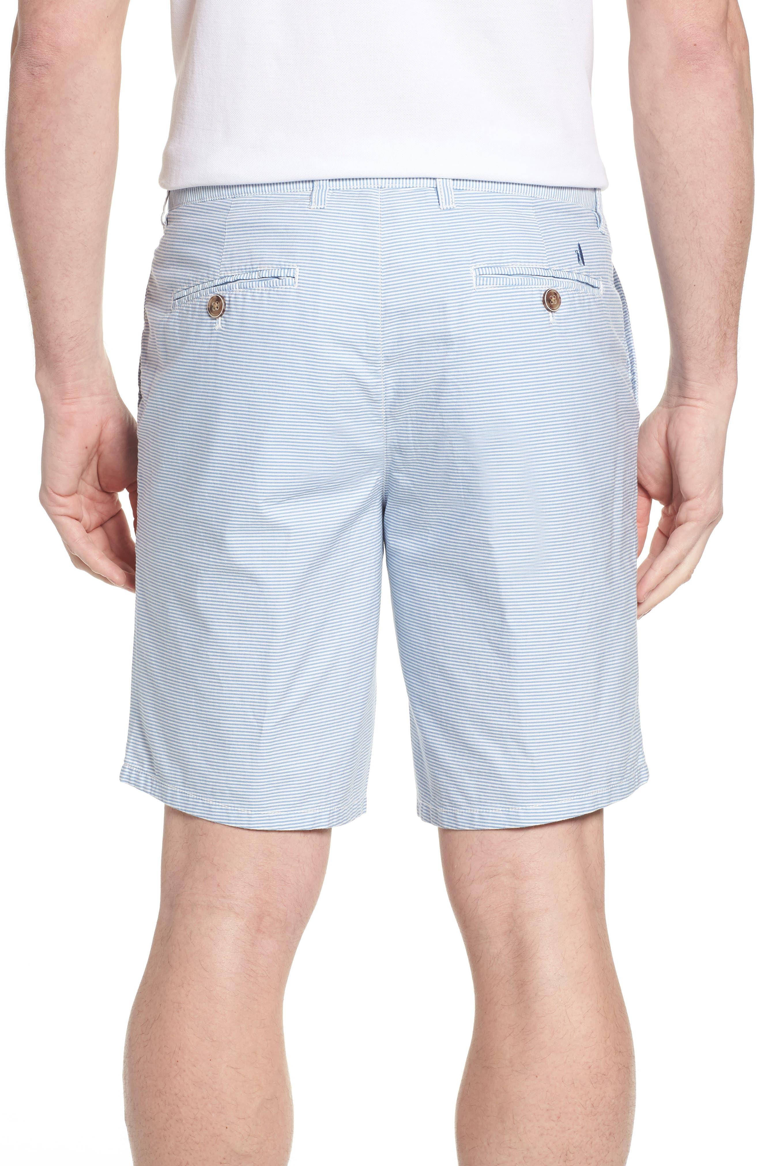 Geordy Regular Fit Pinstripe Shorts,                             Alternate thumbnail 2, color,                             400