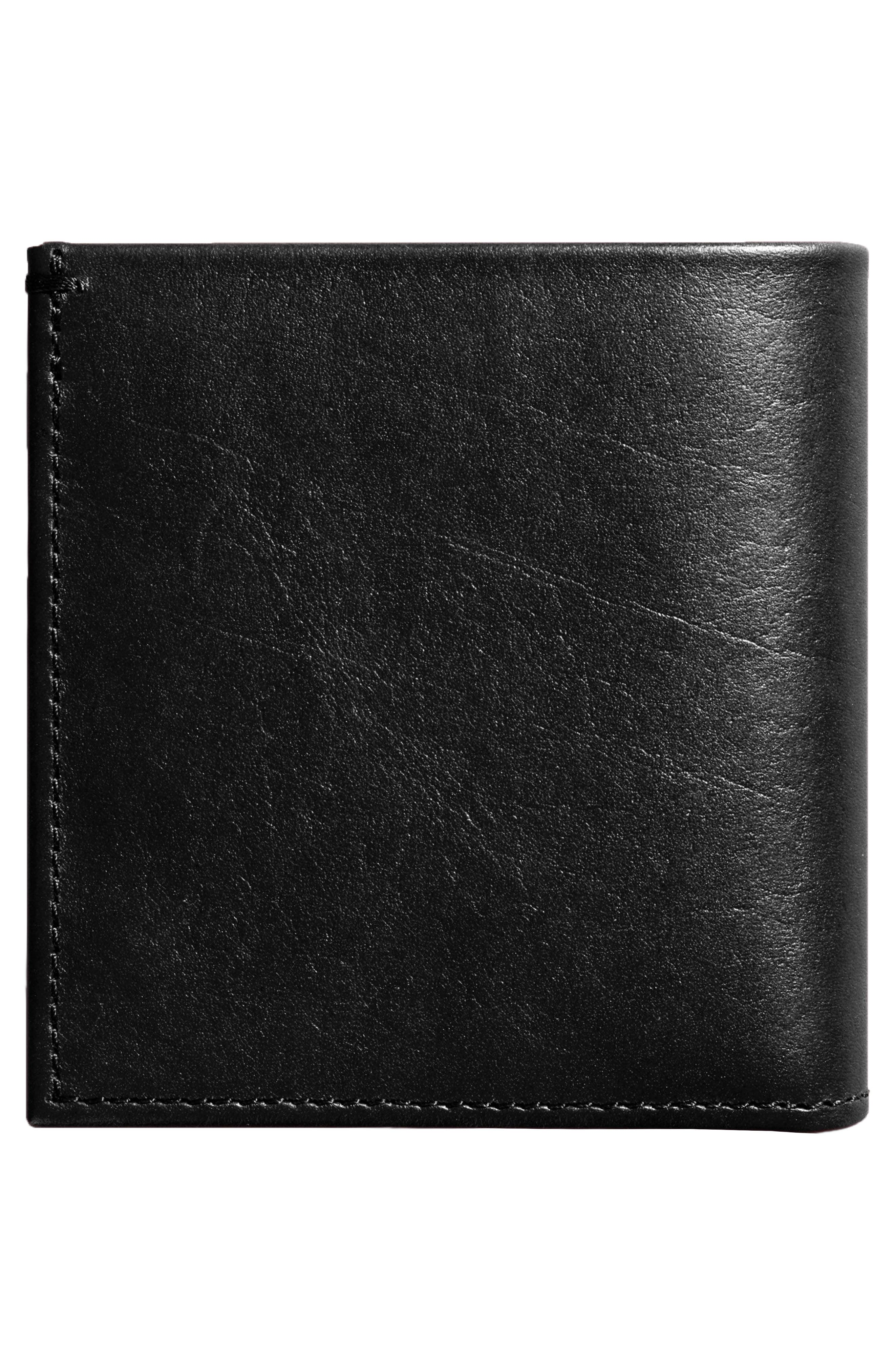Square Bifold Leather Wallet,                             Alternate thumbnail 2, color,                             001