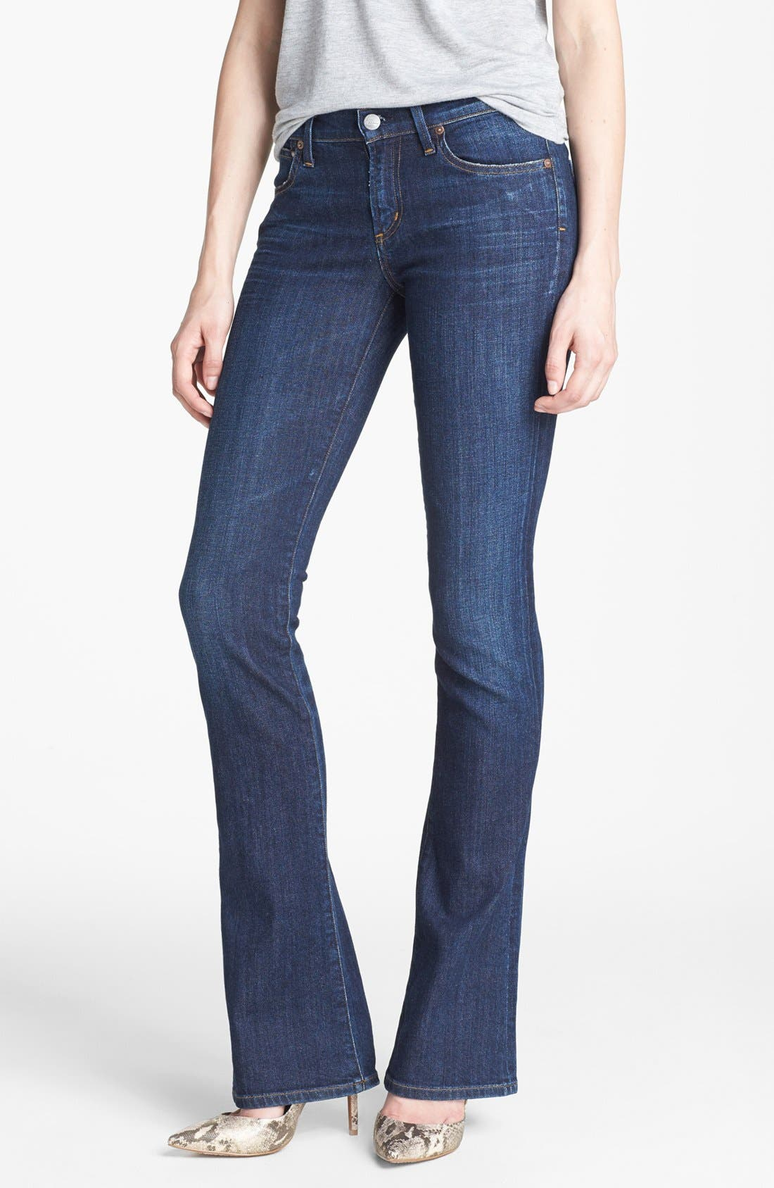 'Emmanuelle' Slim Bootcut Jeans, Main, color, 401