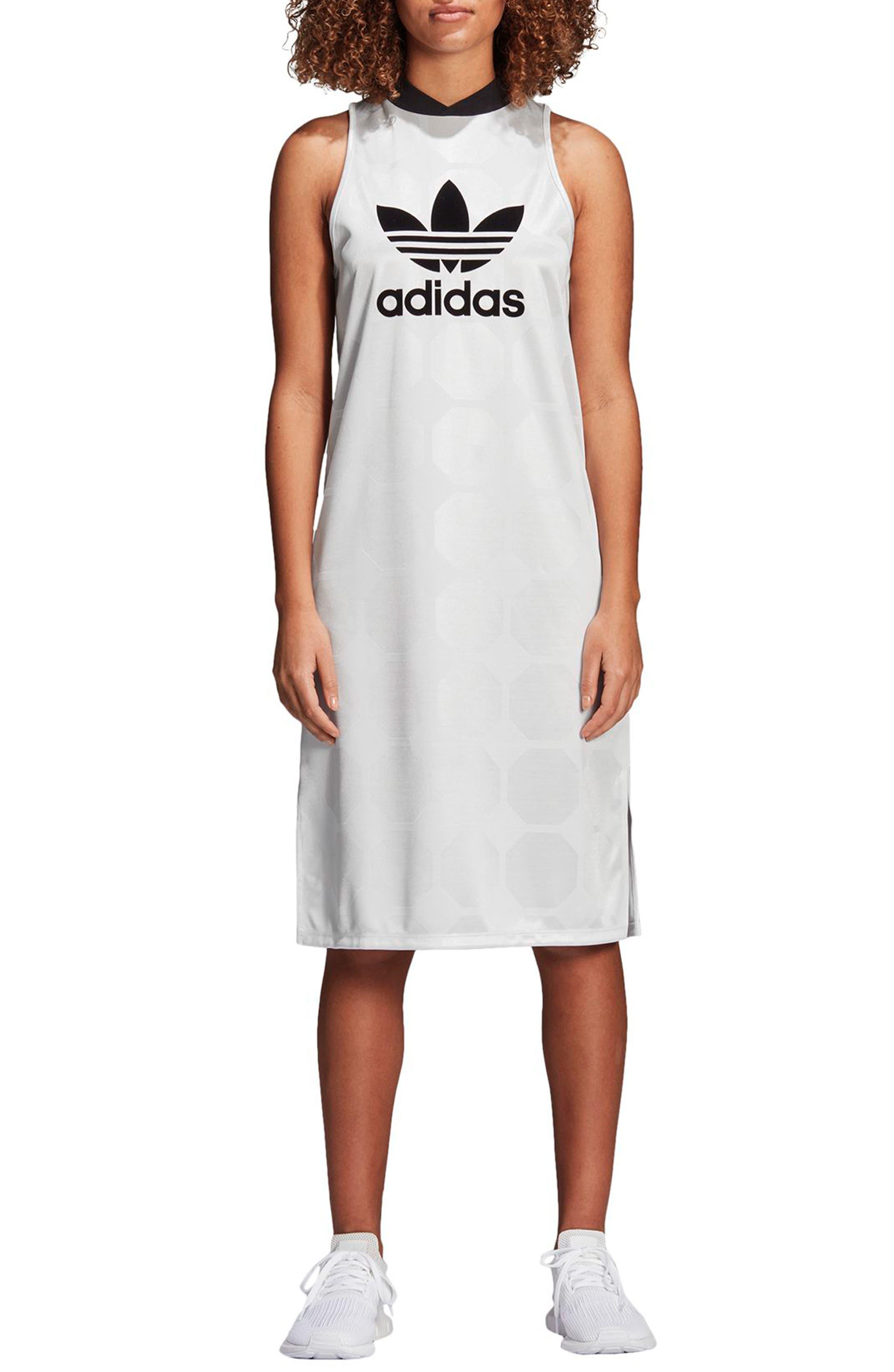 Fashion League Trefoil Jacquard Tank Dress,                             Alternate thumbnail 6, color,                             100