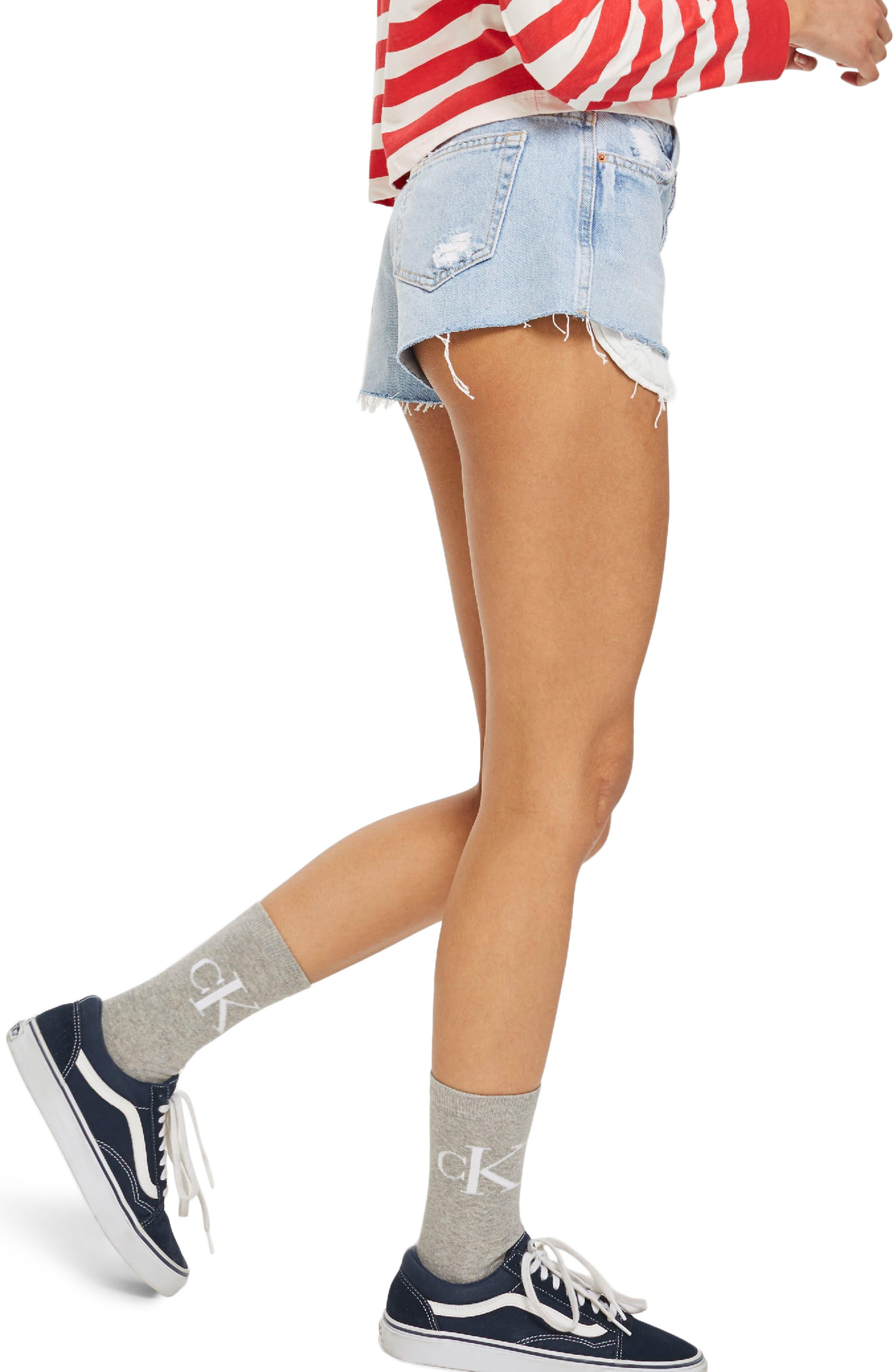 Cory Light Denim Shorts,                             Alternate thumbnail 2, color,