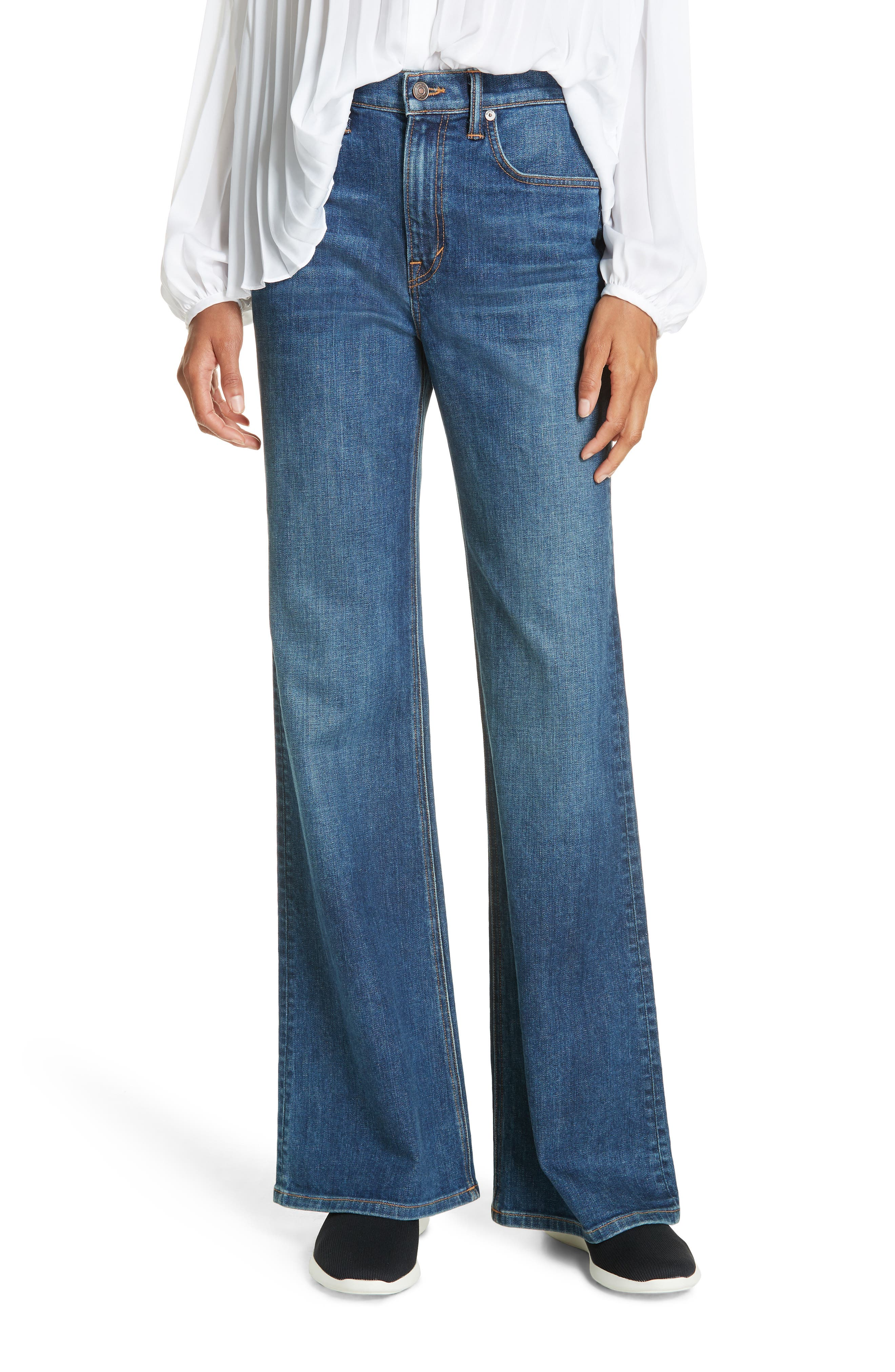 Wide Flare Leg Jeans,                             Main thumbnail 1, color,                             TRUE VINTAGE WASH