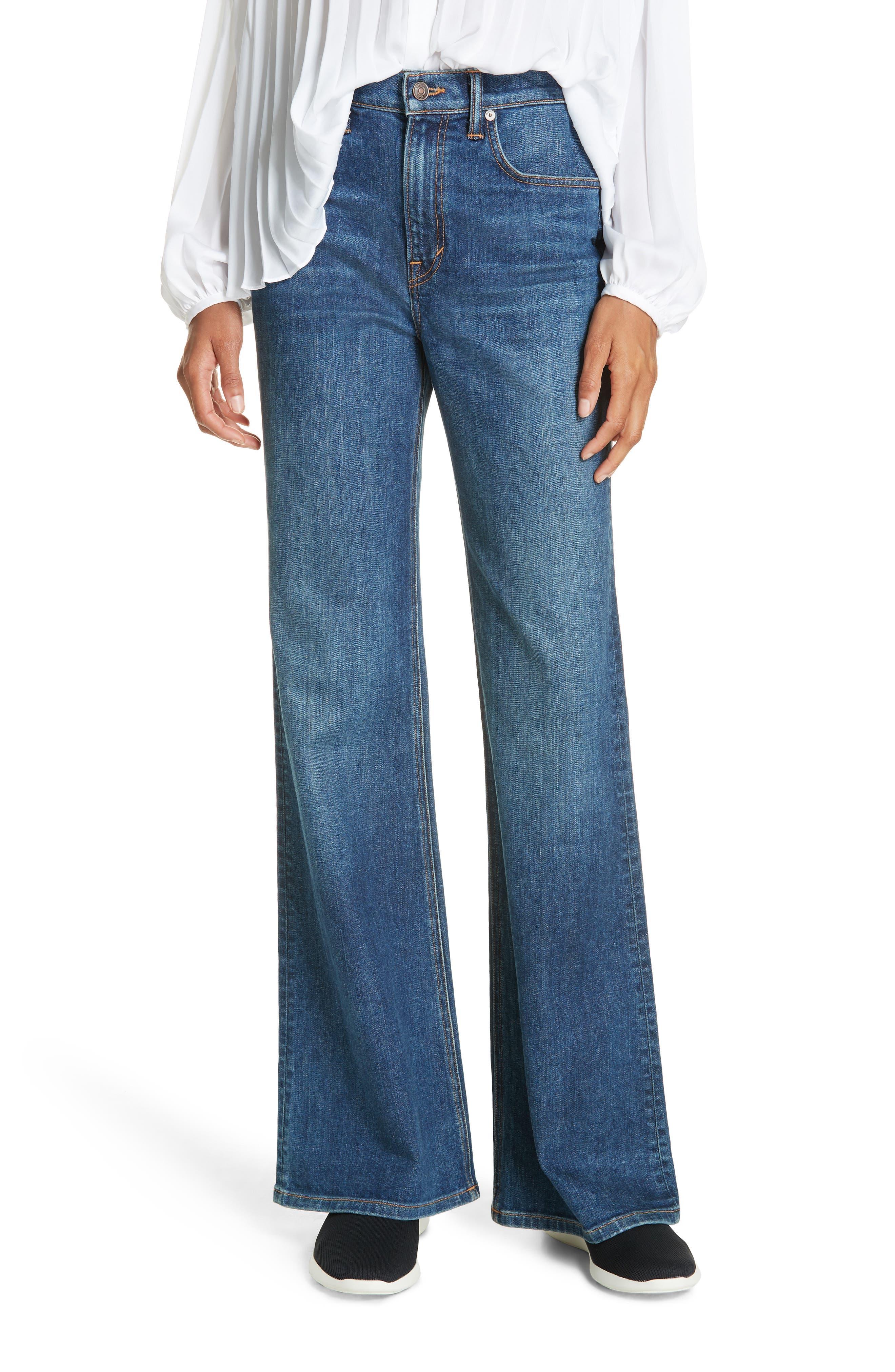 Wide Flare Leg Jeans,                         Main,                         color, TRUE VINTAGE WASH