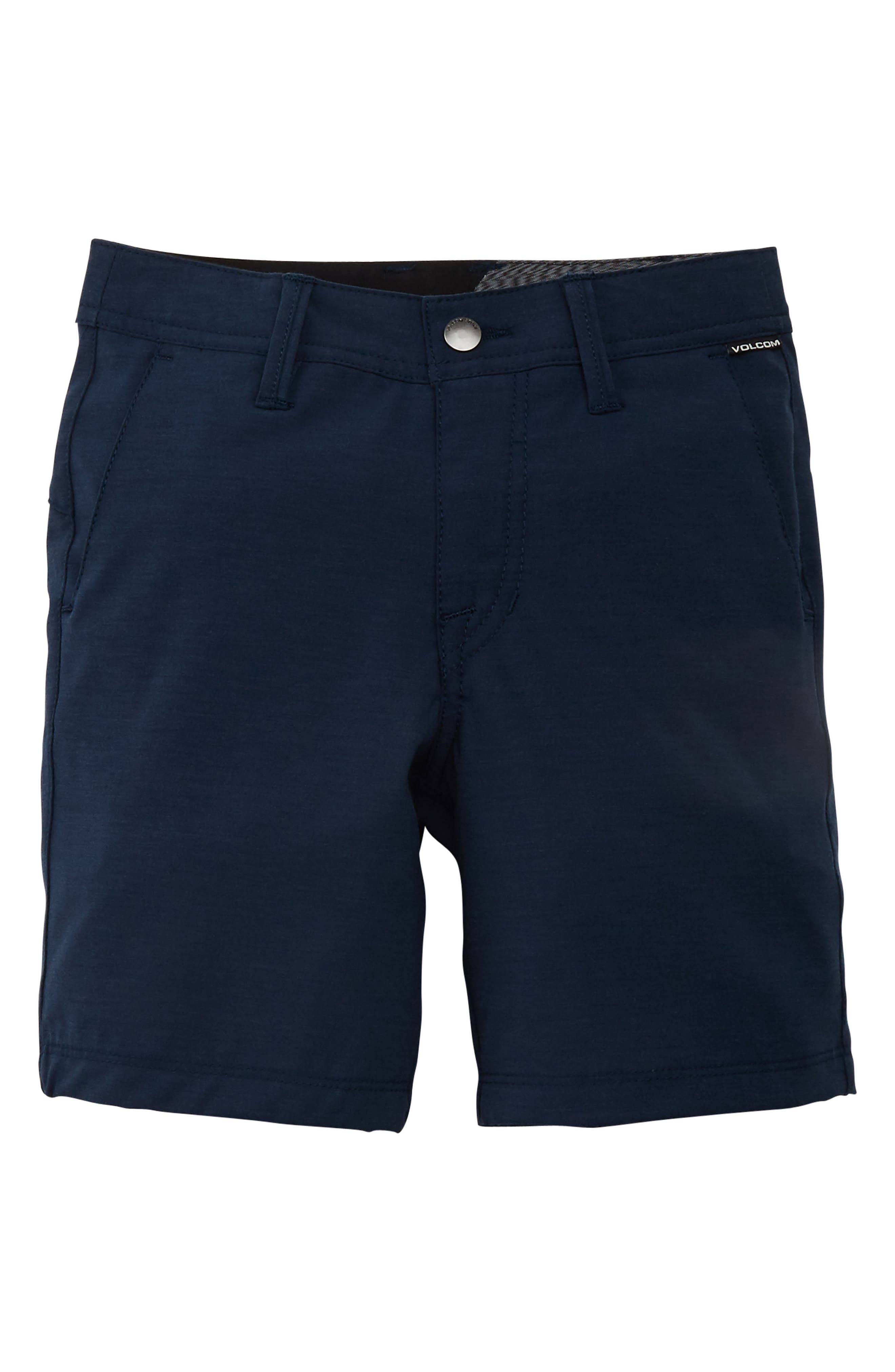 Boys Volcom Frickin Surf N Turf Static Hybrid Board Shorts Size 28  Blue