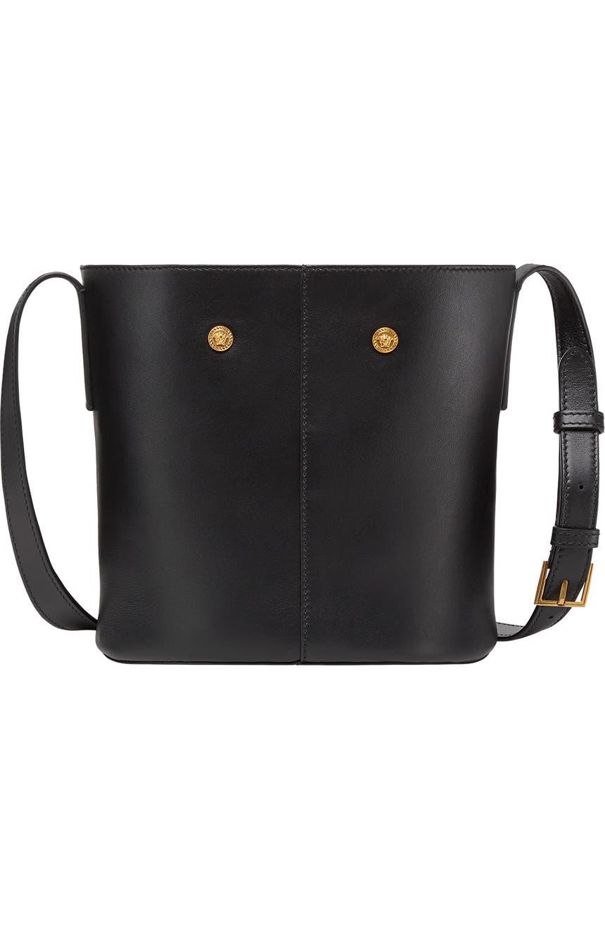 Versace Baroque Sash Leather Bucket Bag  5fb6f1191e1b2