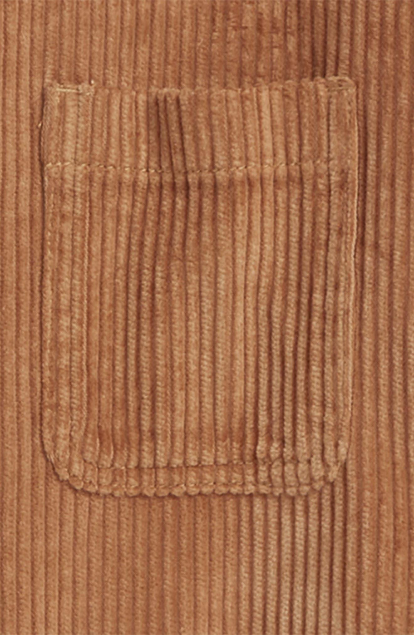 Tresaure & Bond Corduroy Button Front Hoodie,                             Alternate thumbnail 2, color,                             BROWN DIJON