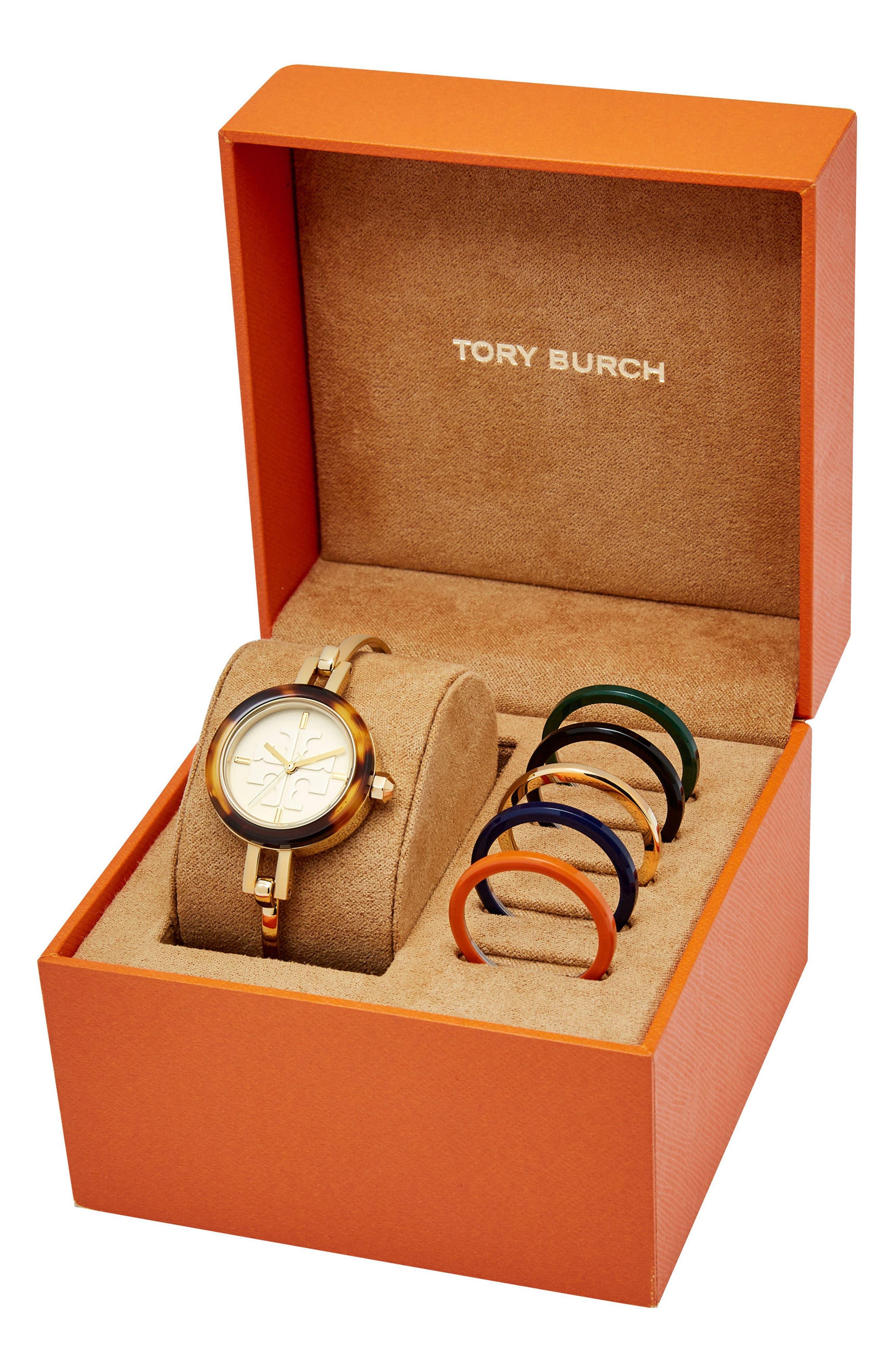 Gigi Bangle Bracelet Watch Set, 28mm,                             Alternate thumbnail 2, color,                             GOLD/ IVORY/ TORTOISE