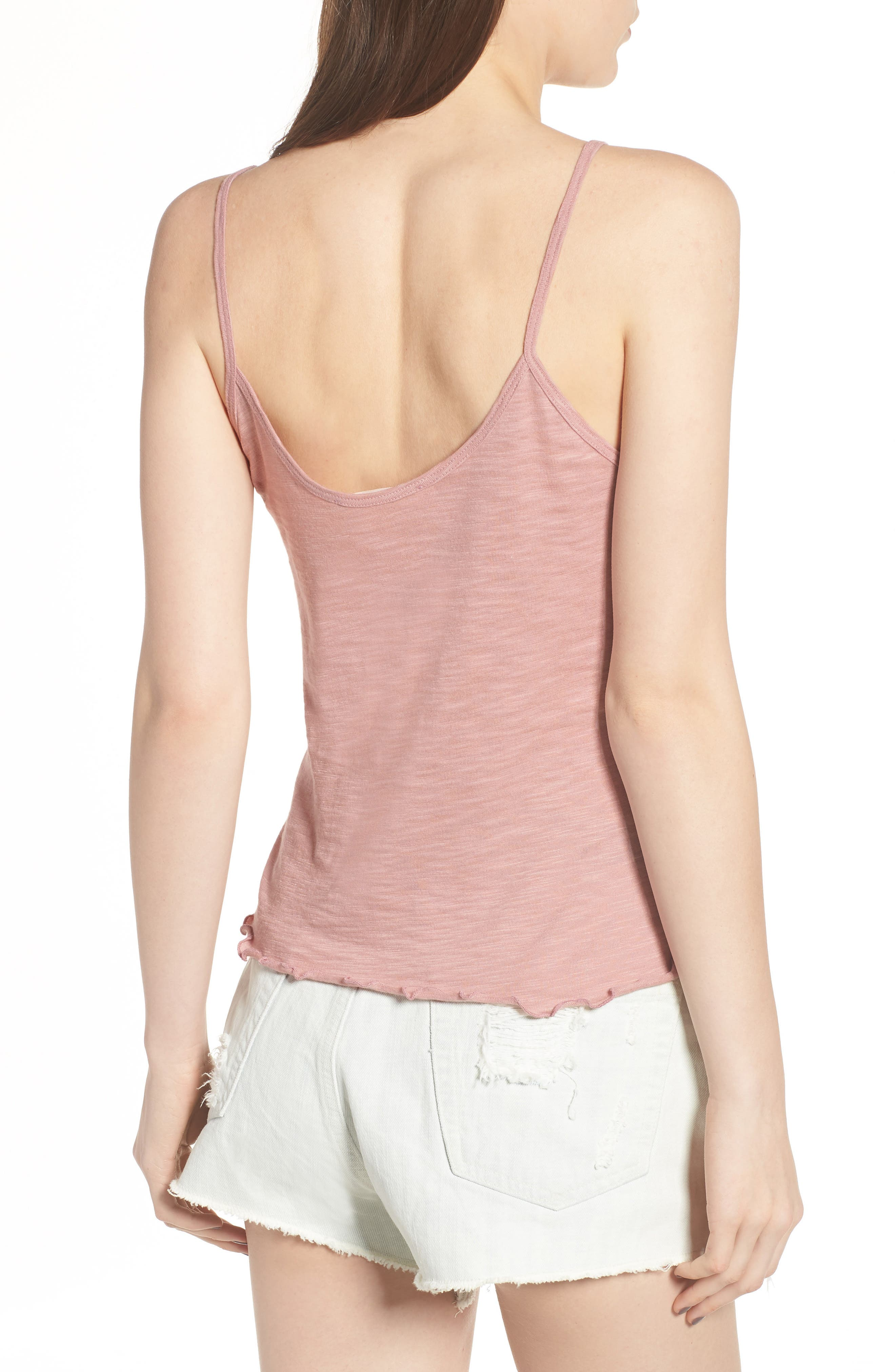 Lettuce Hem Camisole,                             Alternate thumbnail 3, color,