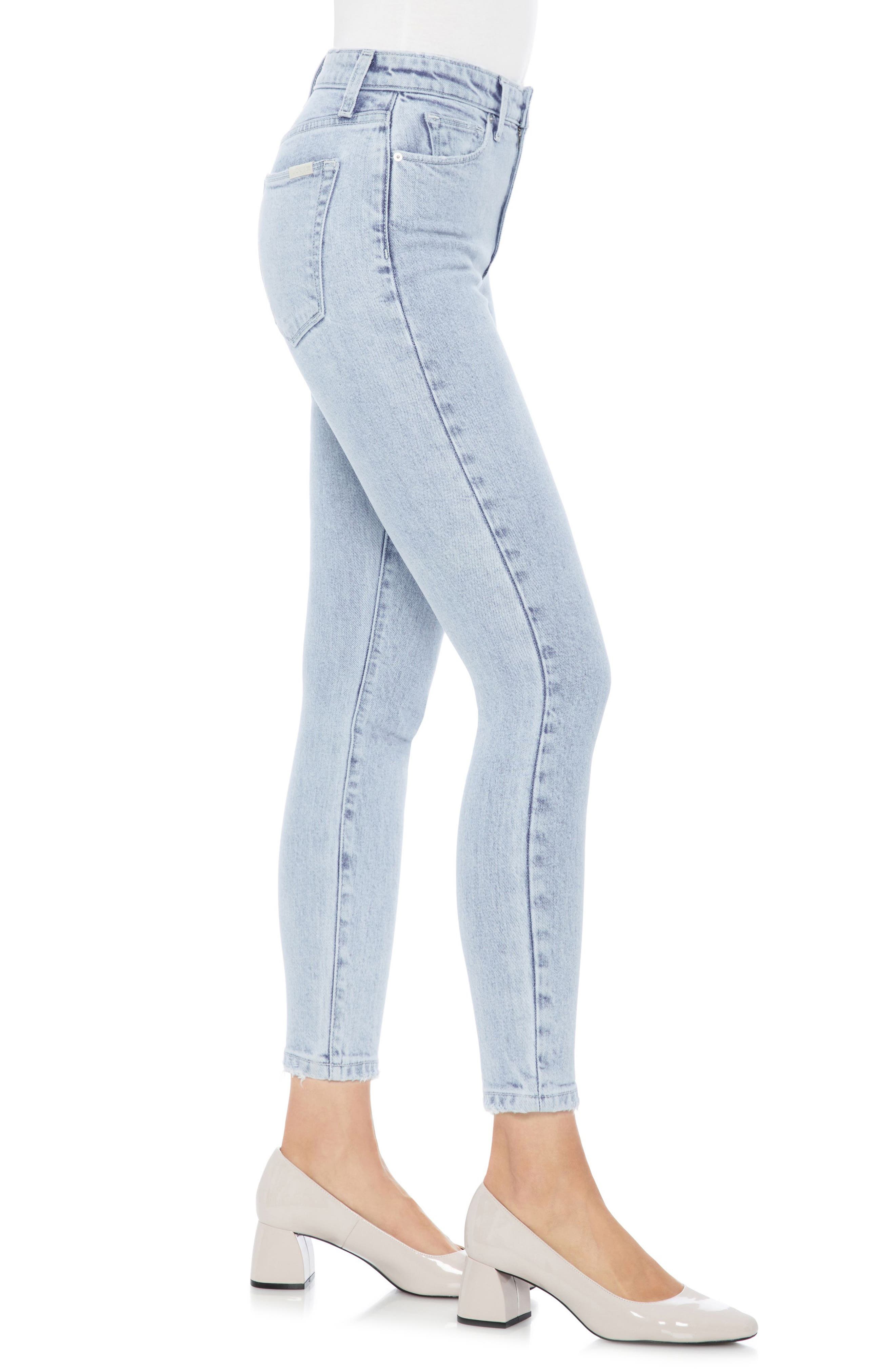 Bella High Waist Crop Skinny Jeans,                             Alternate thumbnail 3, color,