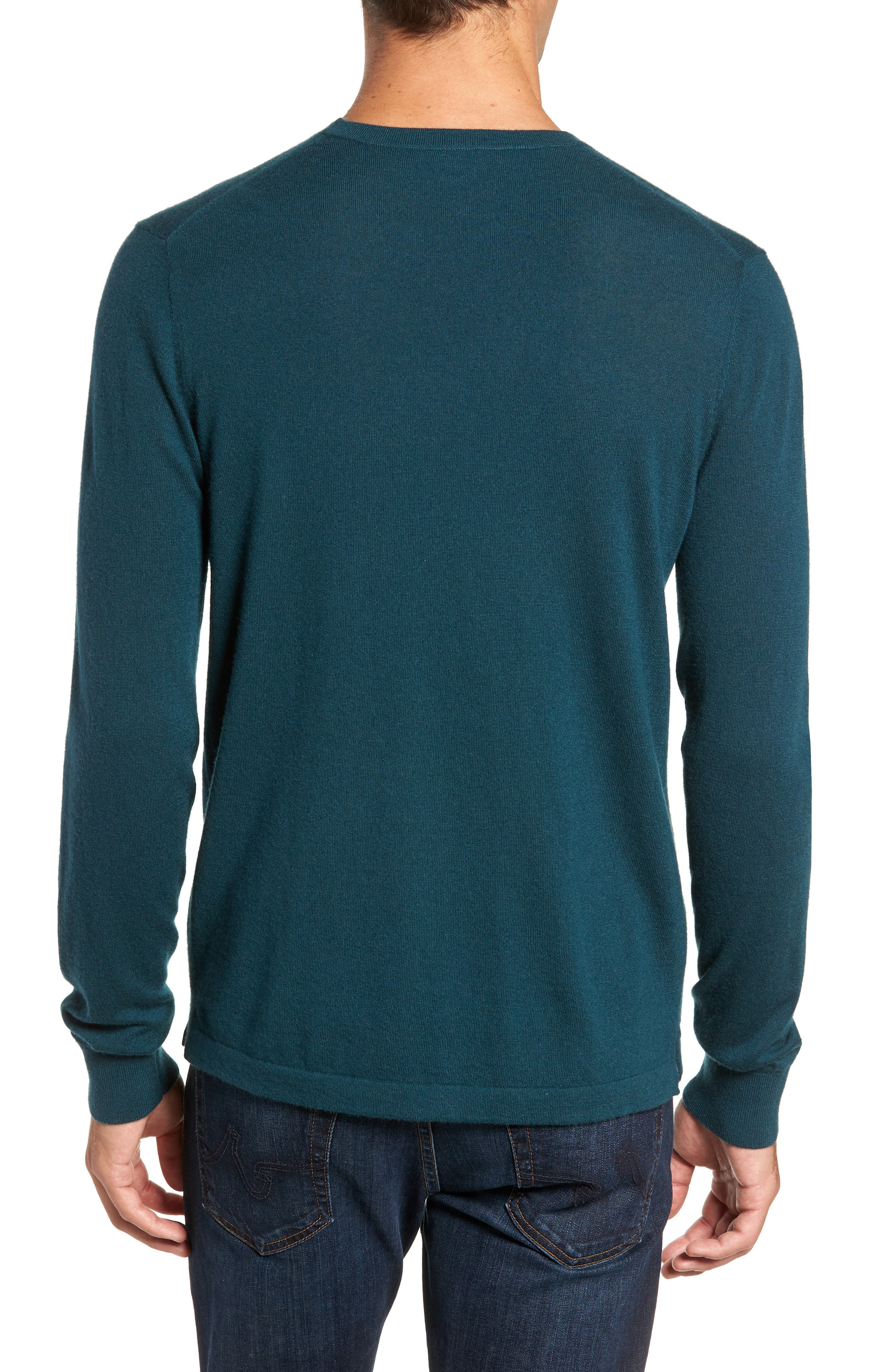 Cashmere Sweater,                             Alternate thumbnail 2, color,                             PETROL