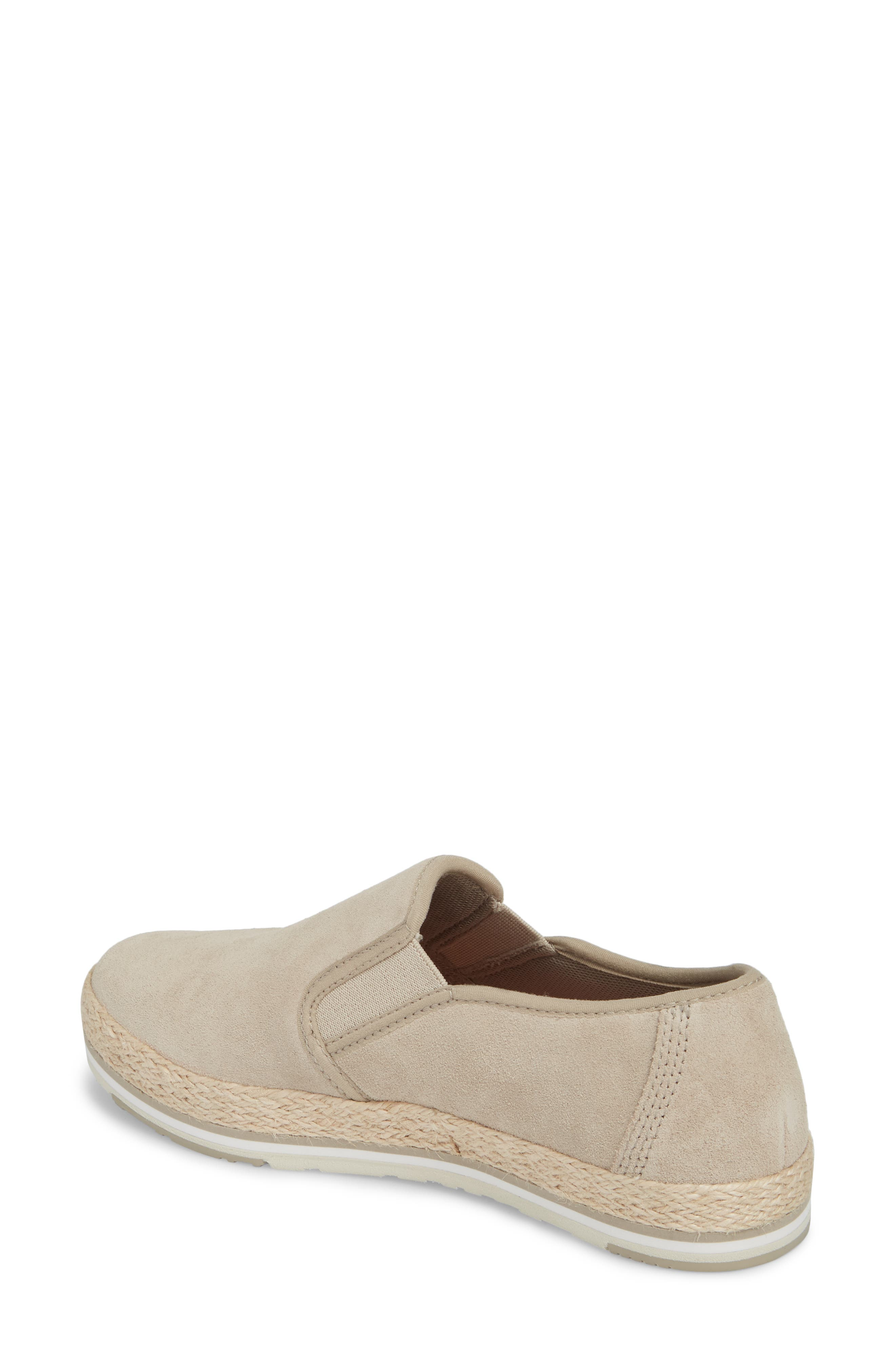 Eivissa Sea Slip-On Sneaker,                             Alternate thumbnail 2, color,                             LIGHT BEIGE LEATHER