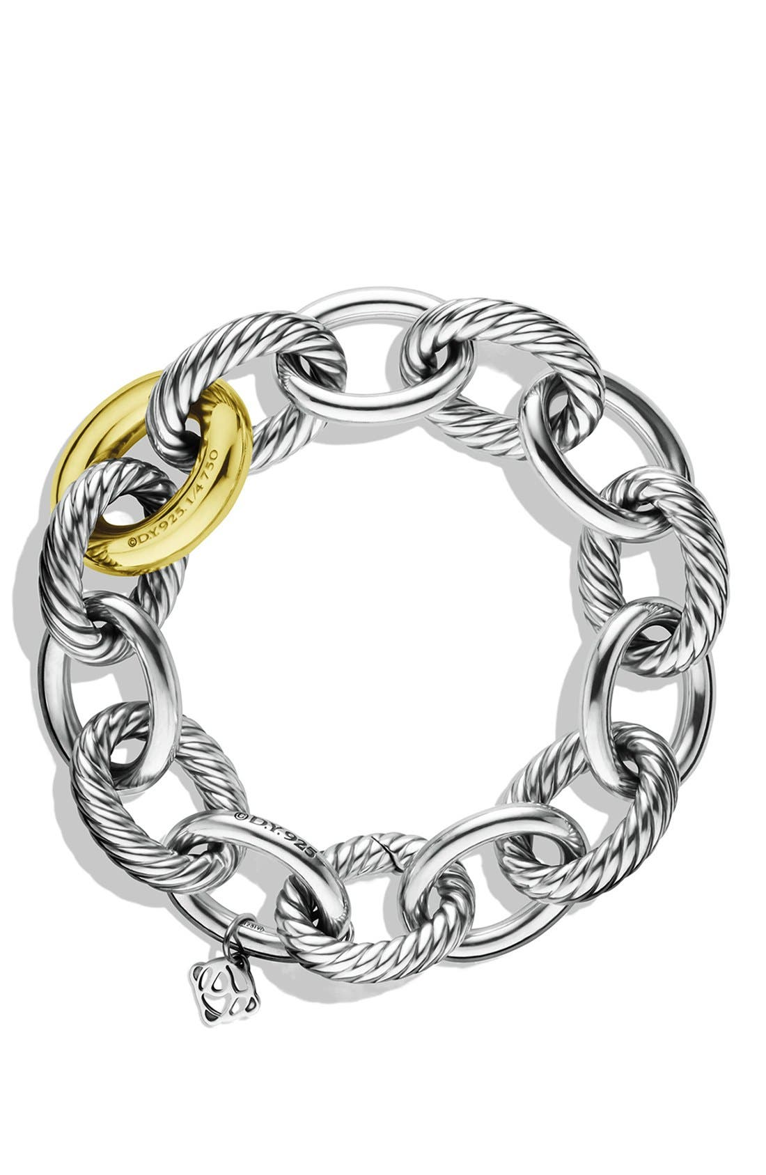 'Oval' Extra-Large Link Bracelet with Gold,                             Alternate thumbnail 3, color,                             040