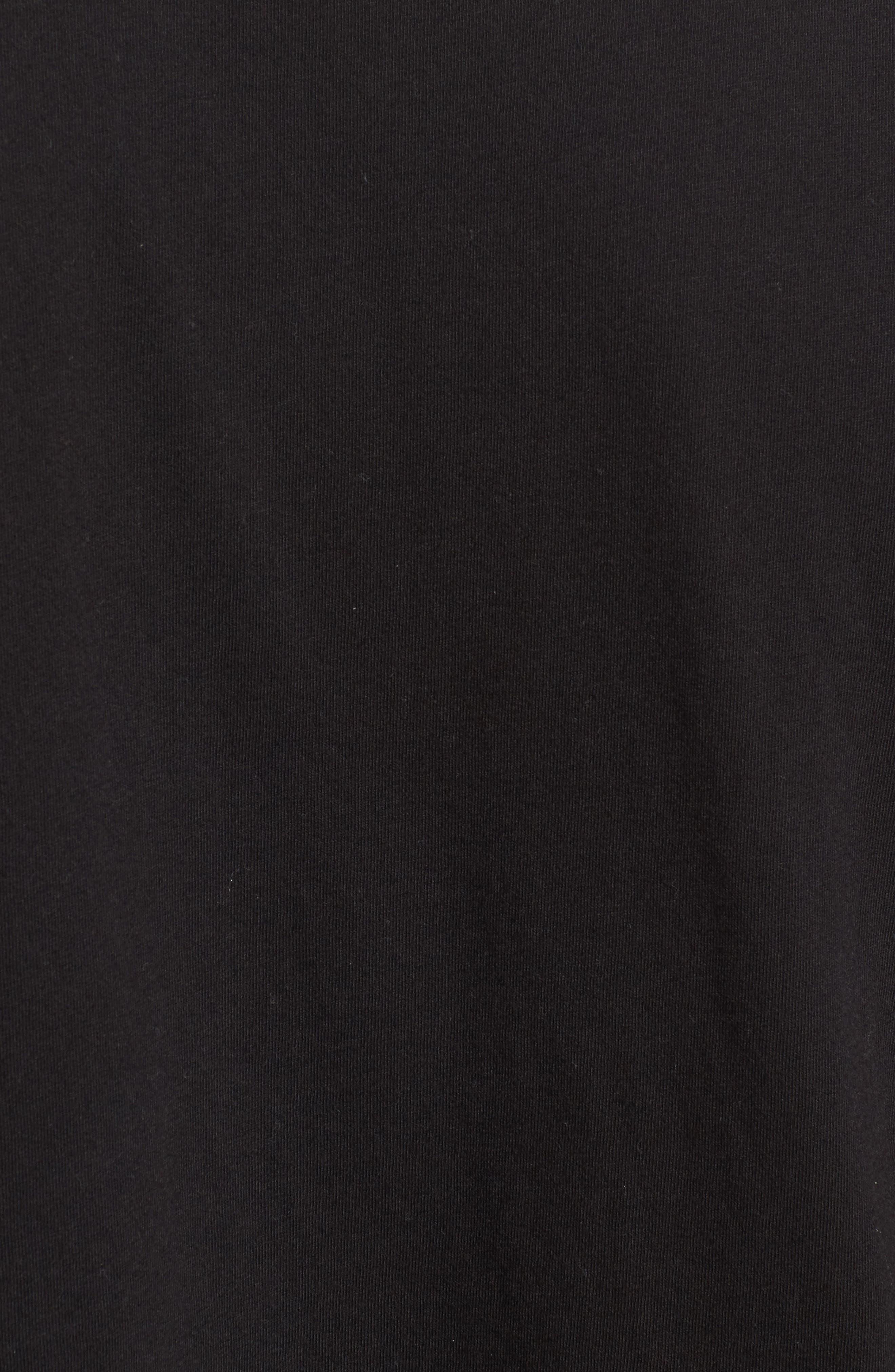 Lounge Long Sleeve Pocket T-Shirt,                             Alternate thumbnail 5, color,                             BLACK