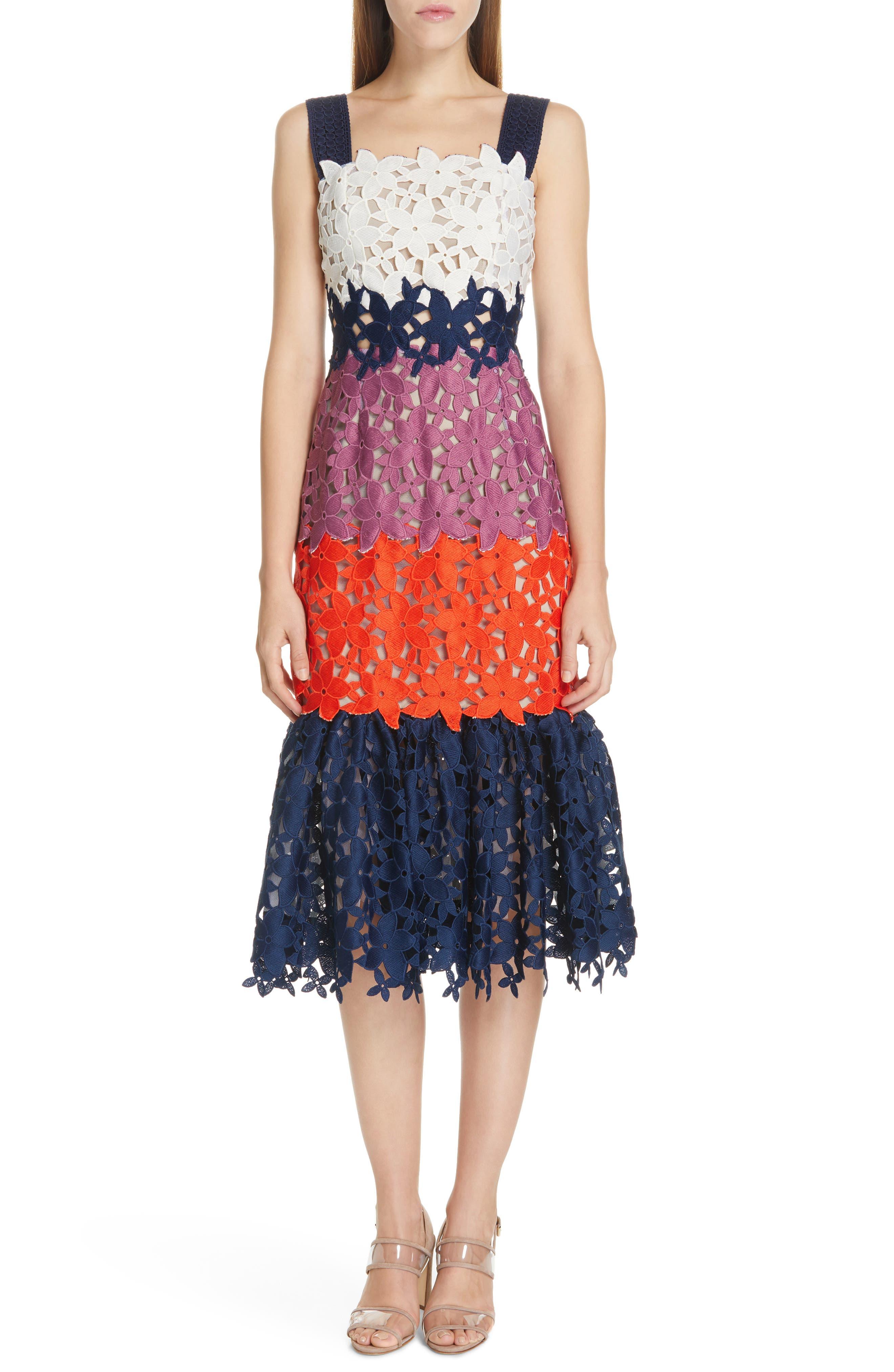 Sea Maisey Mermaid Midi Dress, Blue